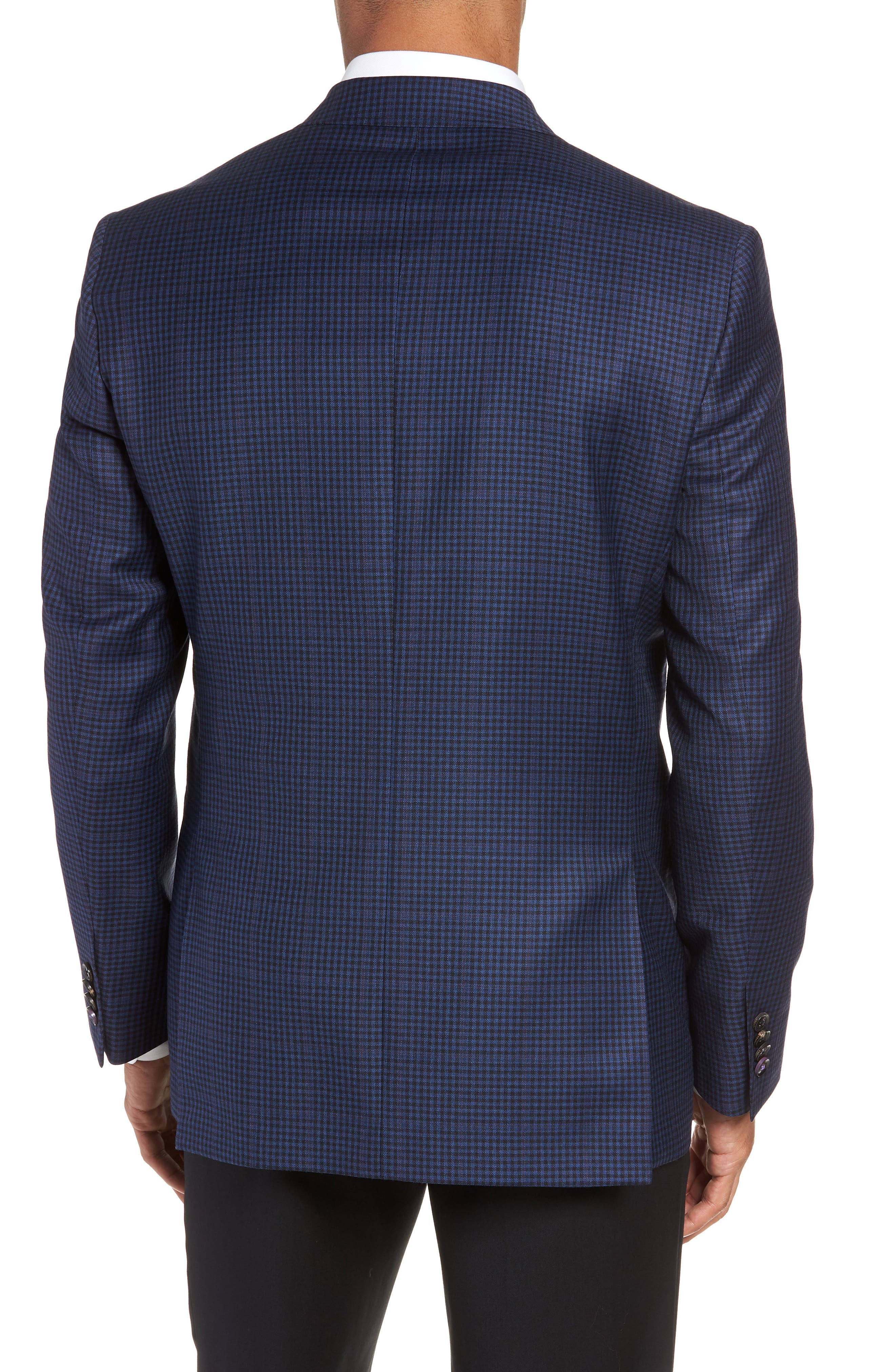 Jay 2B Trim Fit Check Wool Sport Coat,                             Alternate thumbnail 2, color,                             400