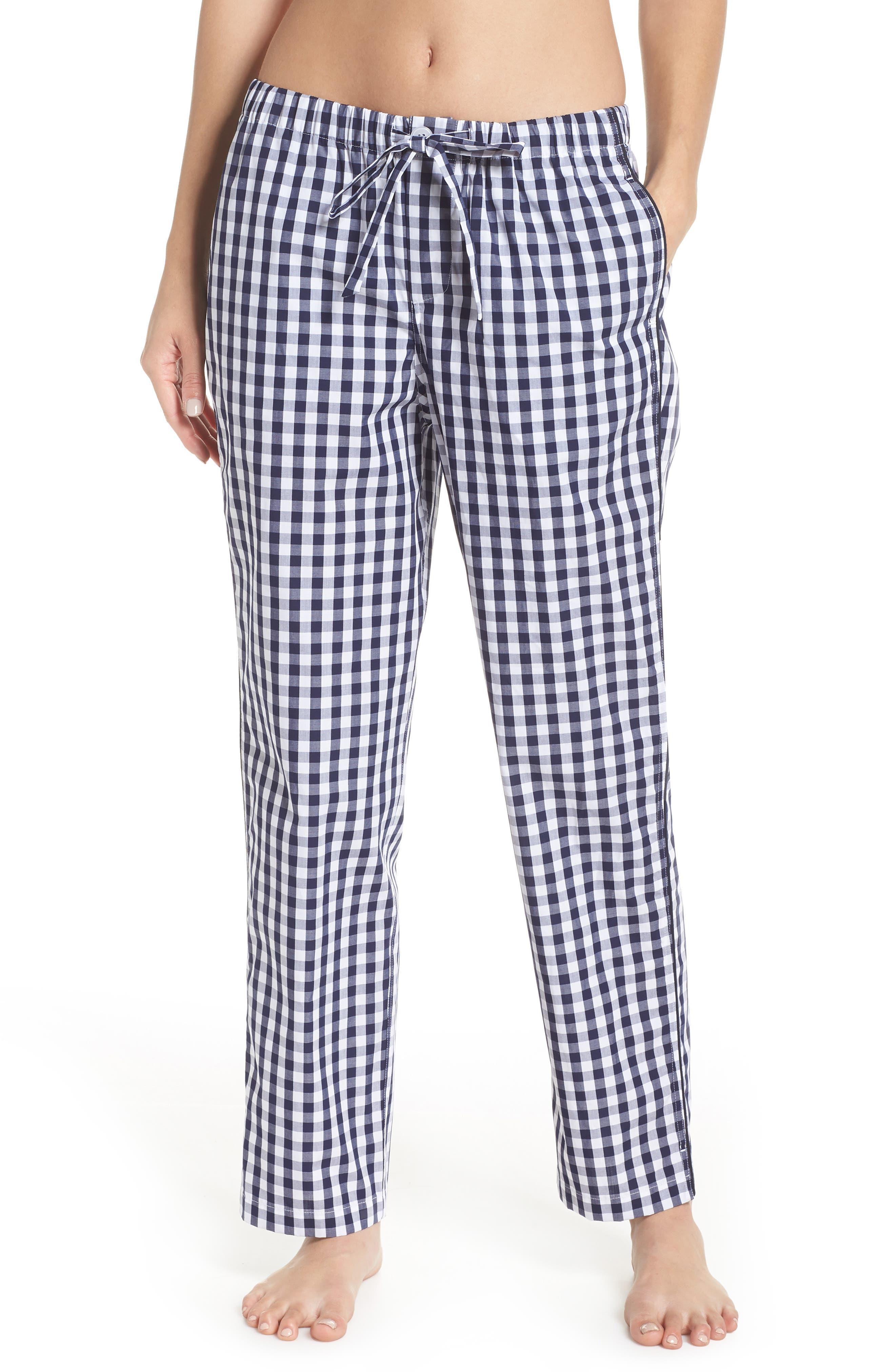 Marina Women's Pajama Pants,                             Alternate thumbnail 2, color,                             LARGE GINGHAM BLUE