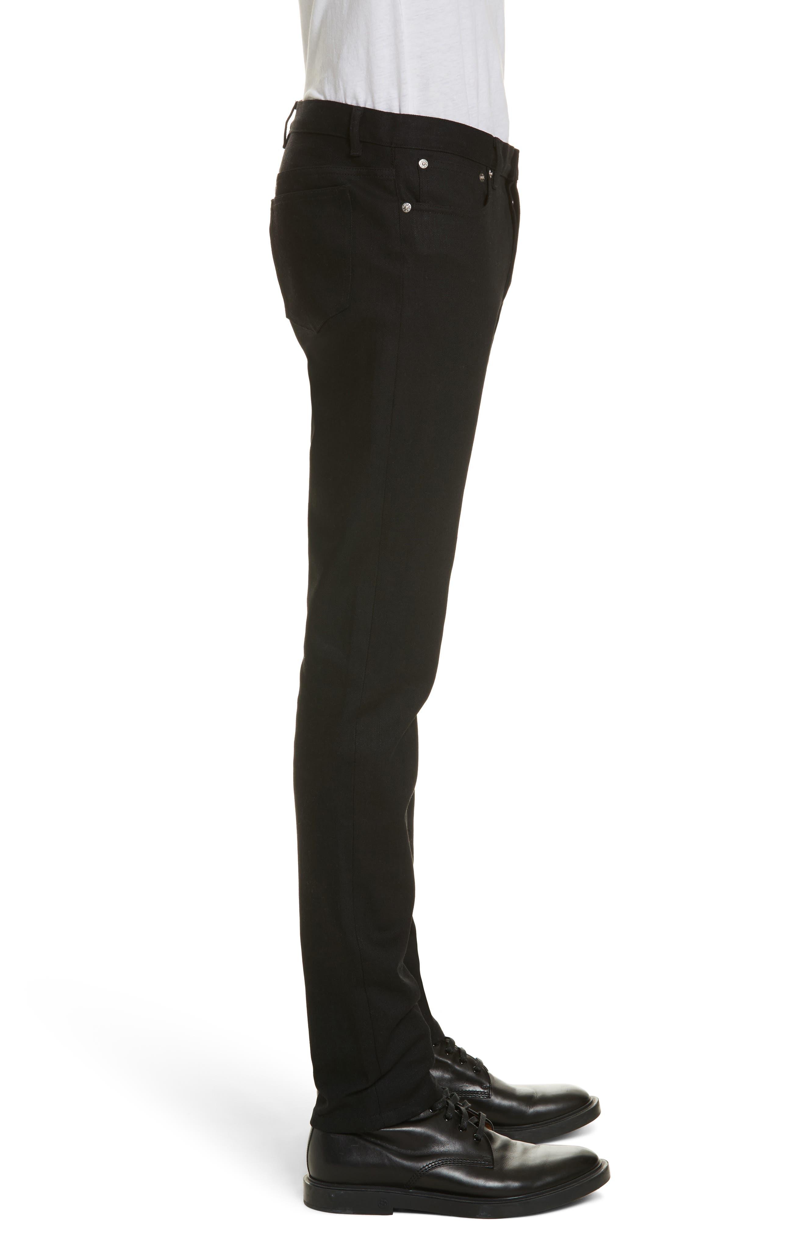 Petit New Standard Stretch Skinny Fit Jeans,                             Alternate thumbnail 3, color,                             BLACK