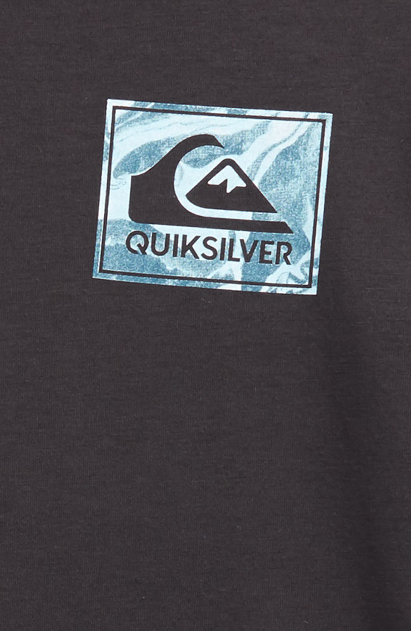QUIKSILVER,                             Volcano Blues T-Shirt,                             Alternate thumbnail 3, color,                             005