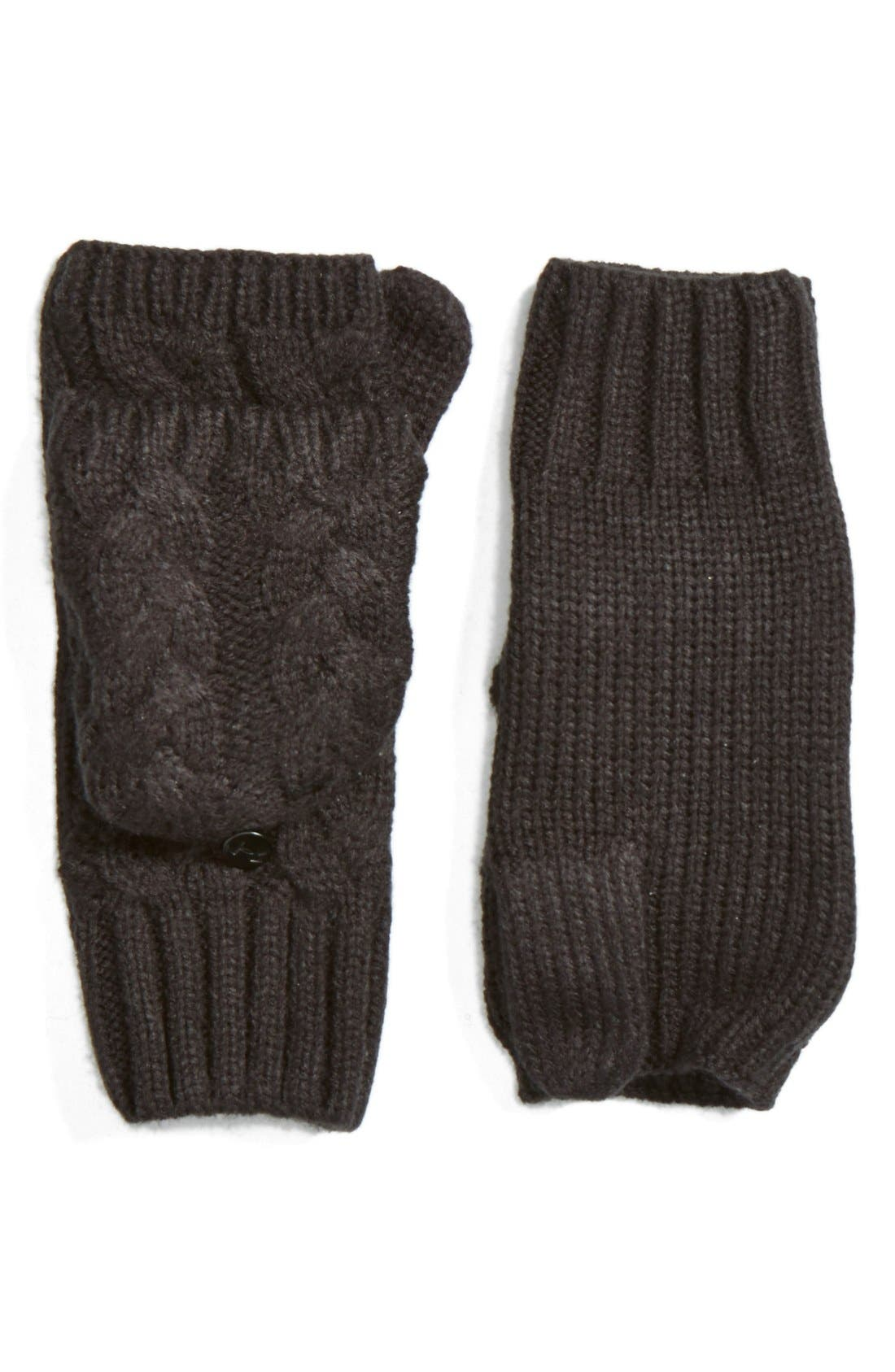 'Around Town' Pop Top Mittens,                             Main thumbnail 1, color,                             001