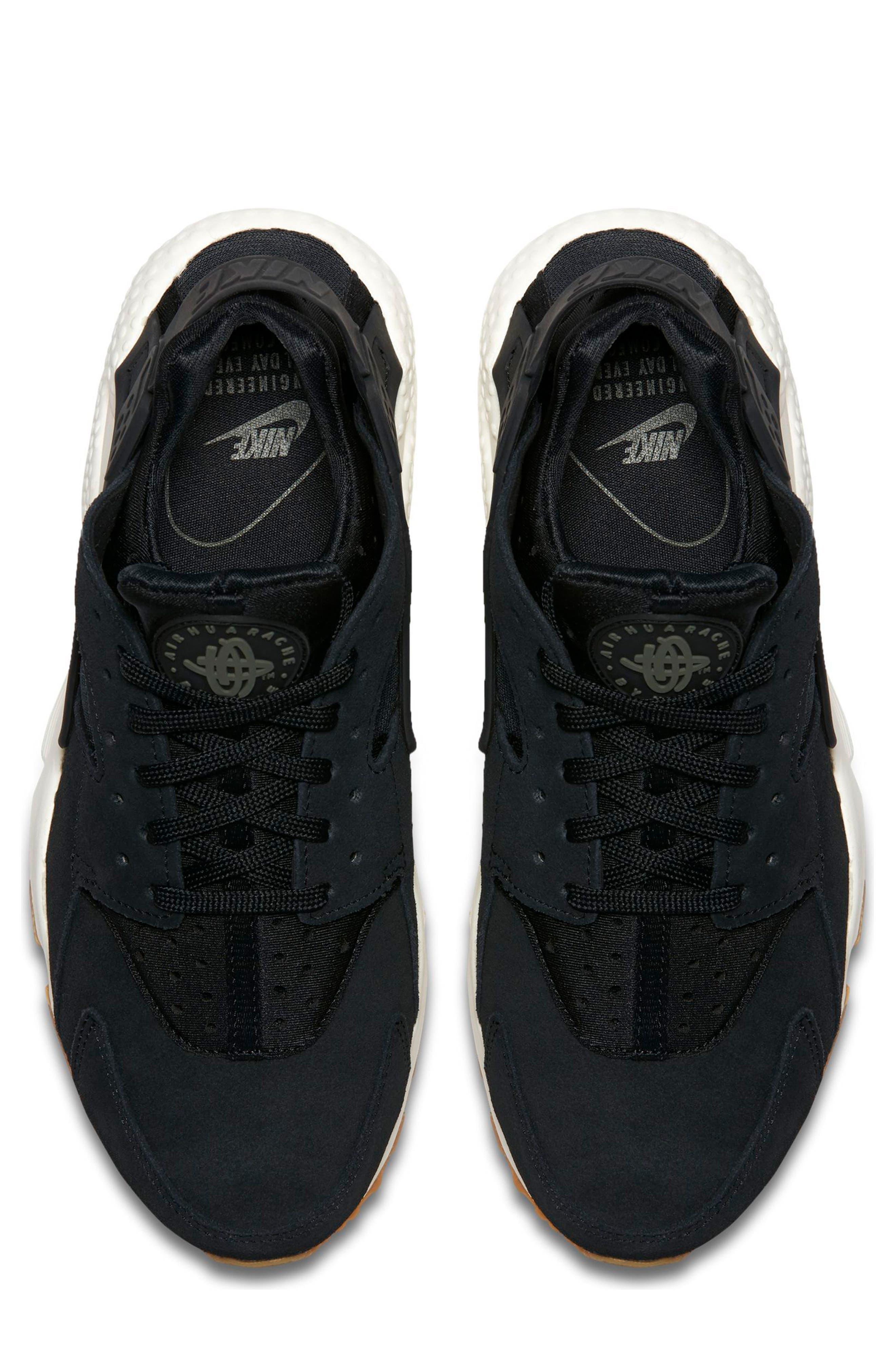 Air Huarache Run SD Sneaker,                             Alternate thumbnail 5, color,                             001