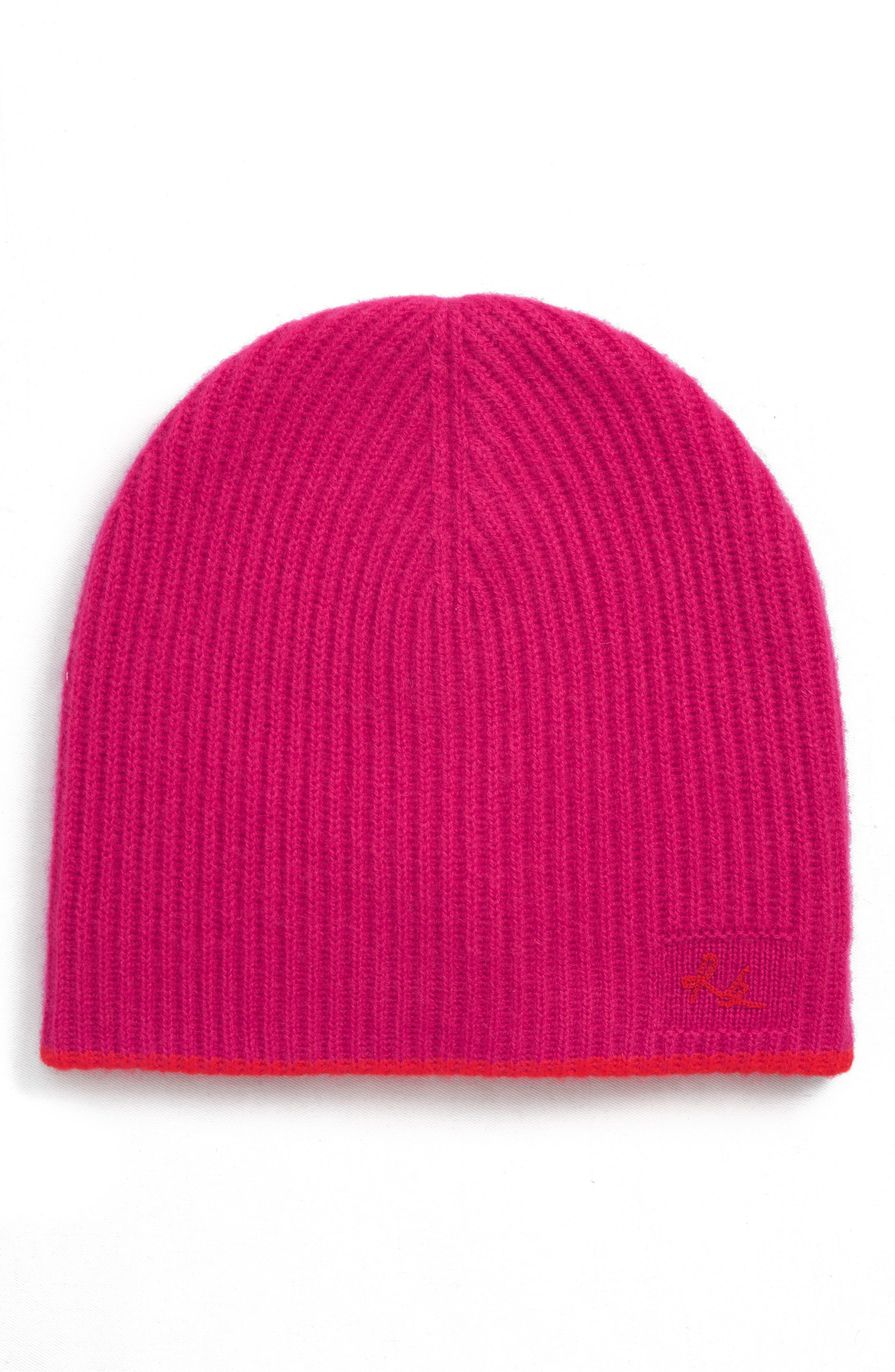 Yorke Cashmere Beanie - Pink