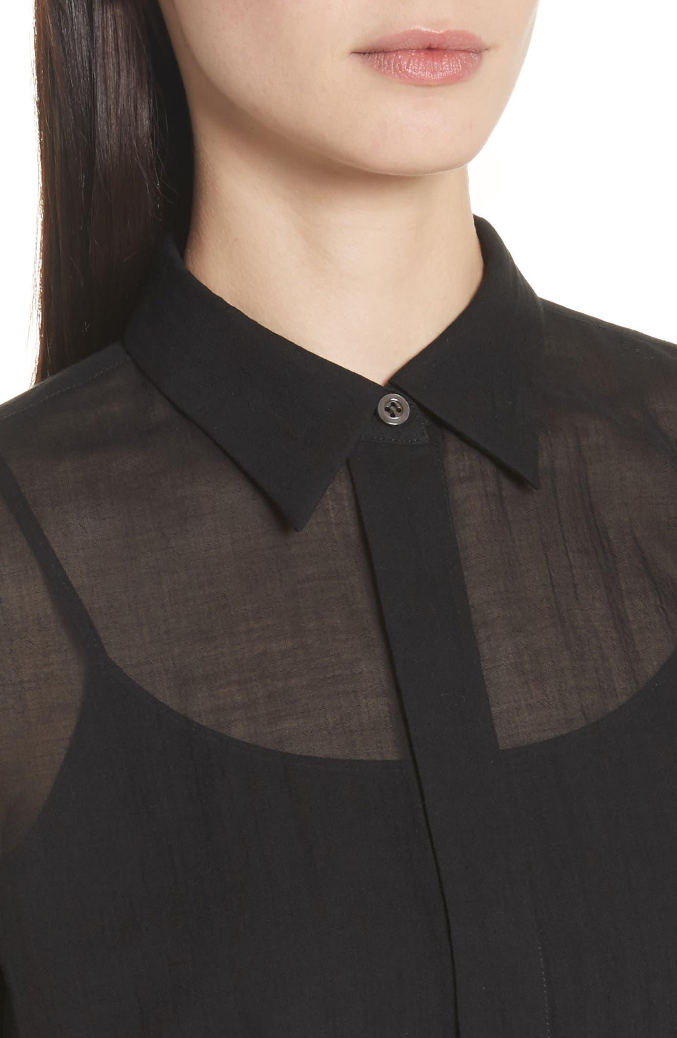 Essential Button-Down Cotton Shirt,                             Alternate thumbnail 7, color,
