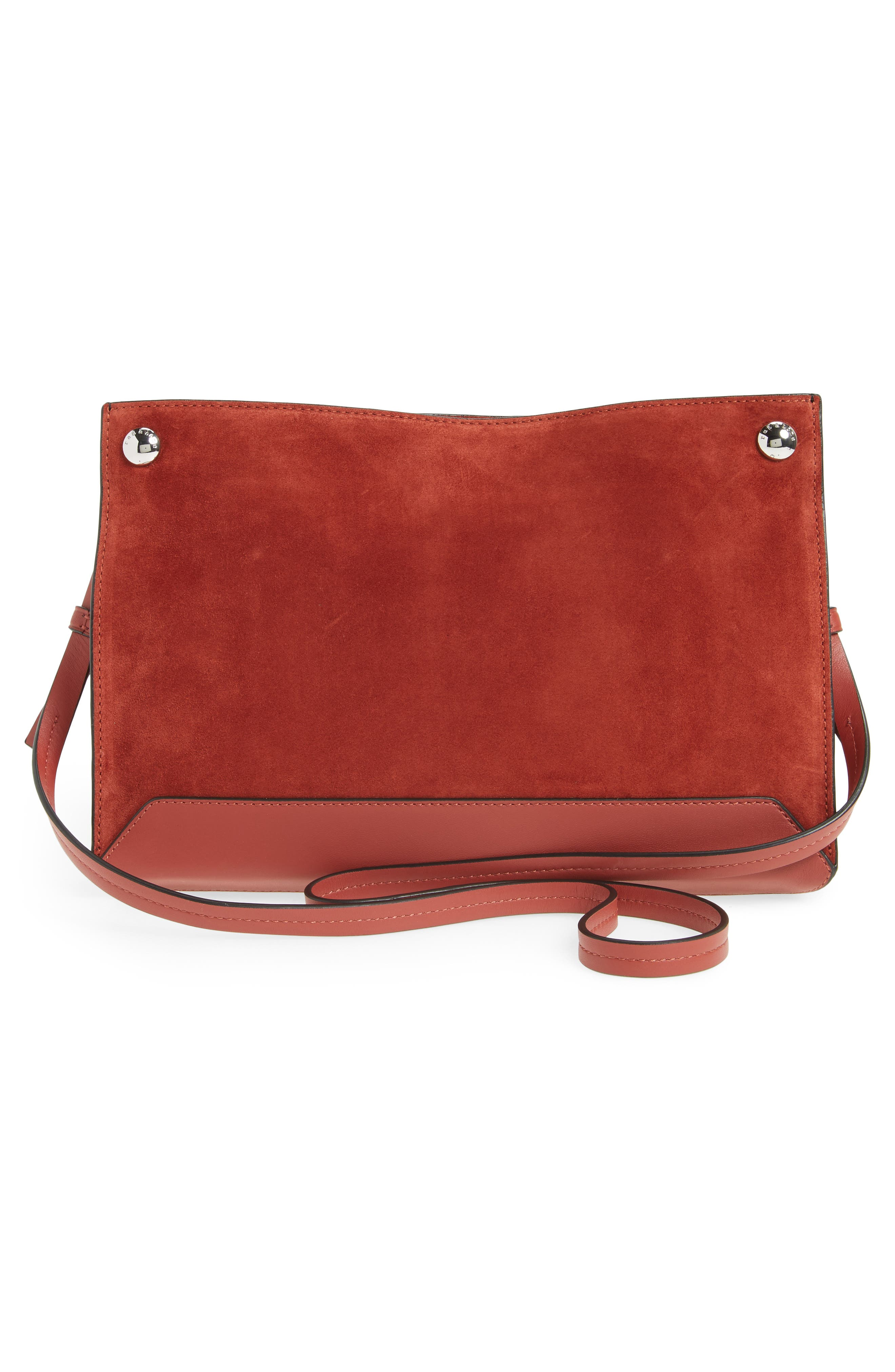 Compass Suede Crossbody Bag,                             Alternate thumbnail 3, color,                             629