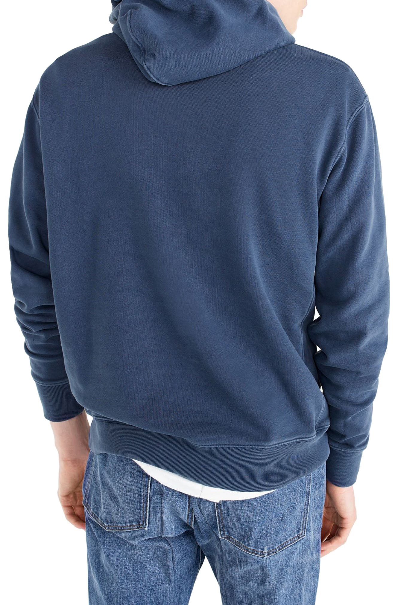 Garment Dyed French Terry Hoodie,                             Alternate thumbnail 8, color,
