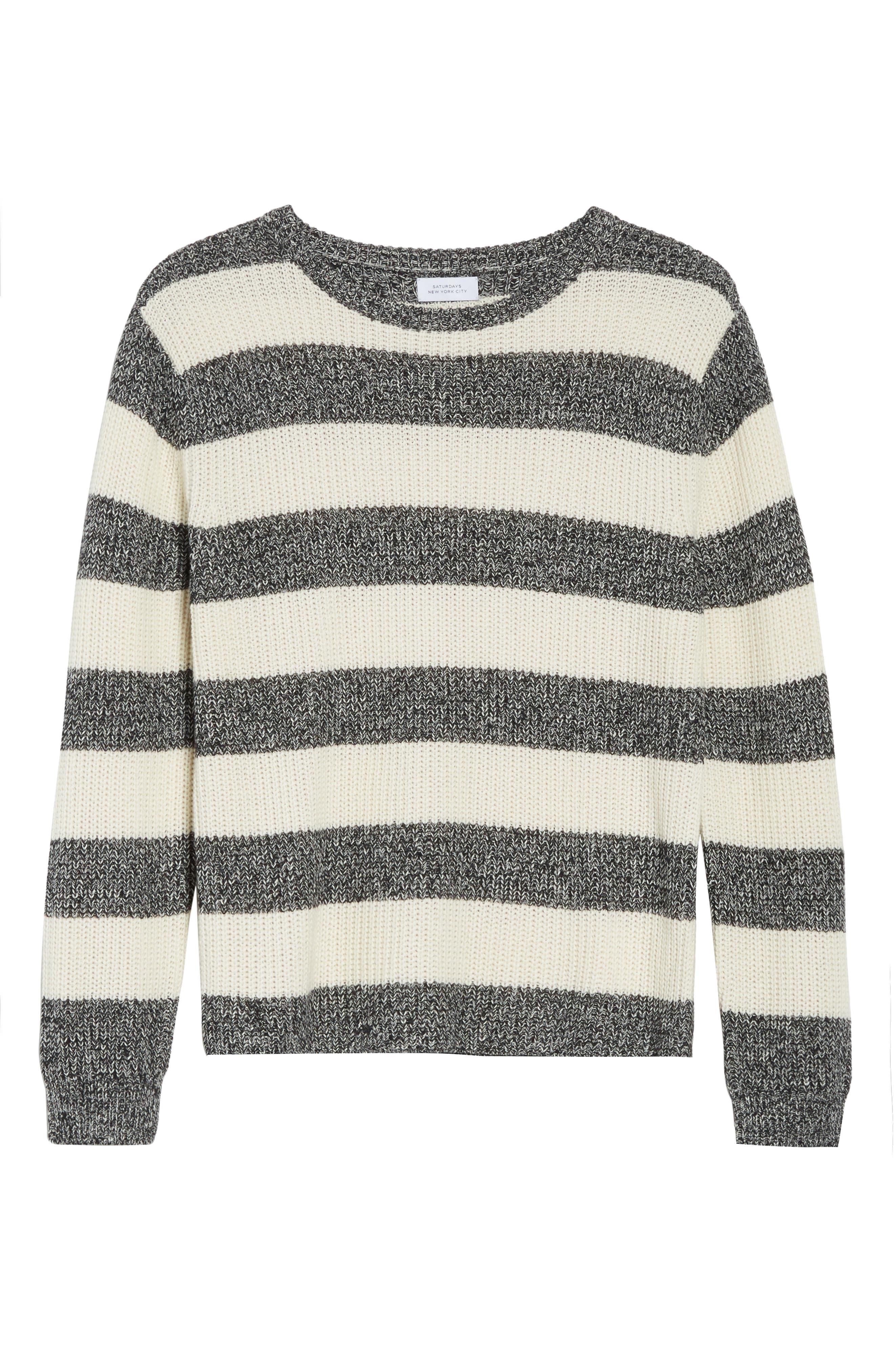 Lee Stripe Crewneck Sweater,                             Alternate thumbnail 6, color,                             101