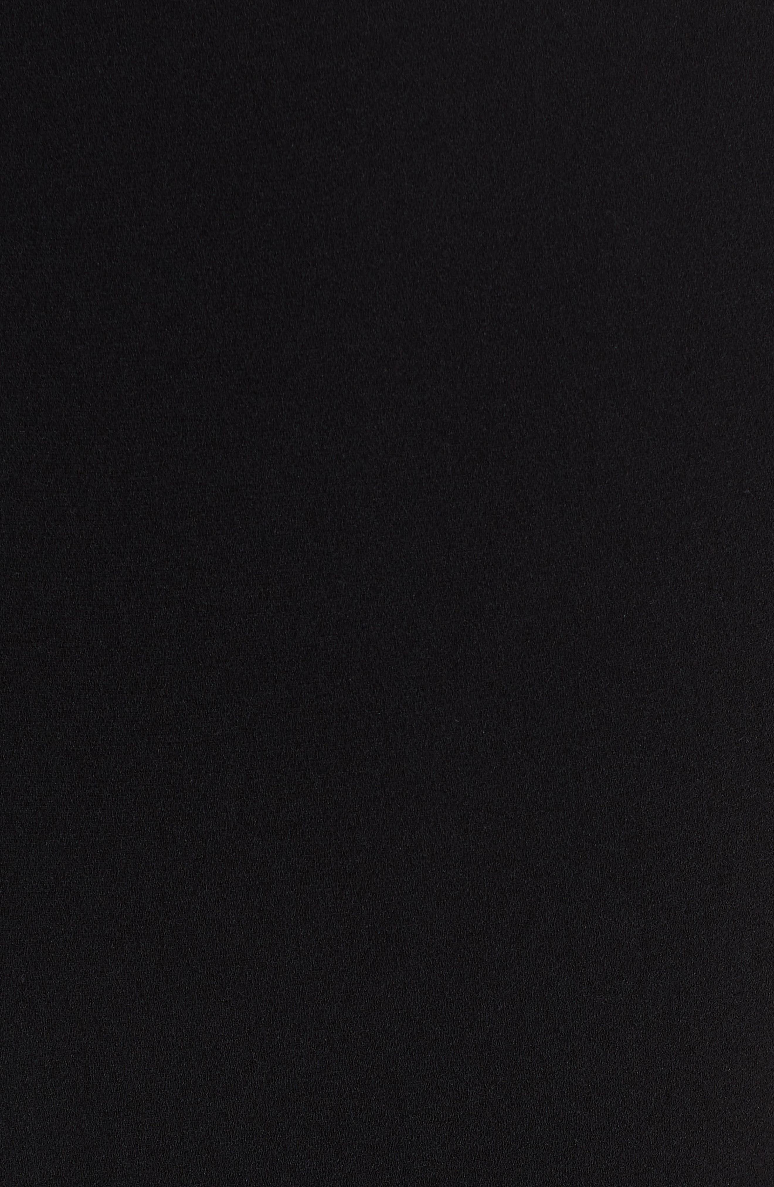 Sleeveless Peplum Top,                             Alternate thumbnail 5, color,                             BLACK