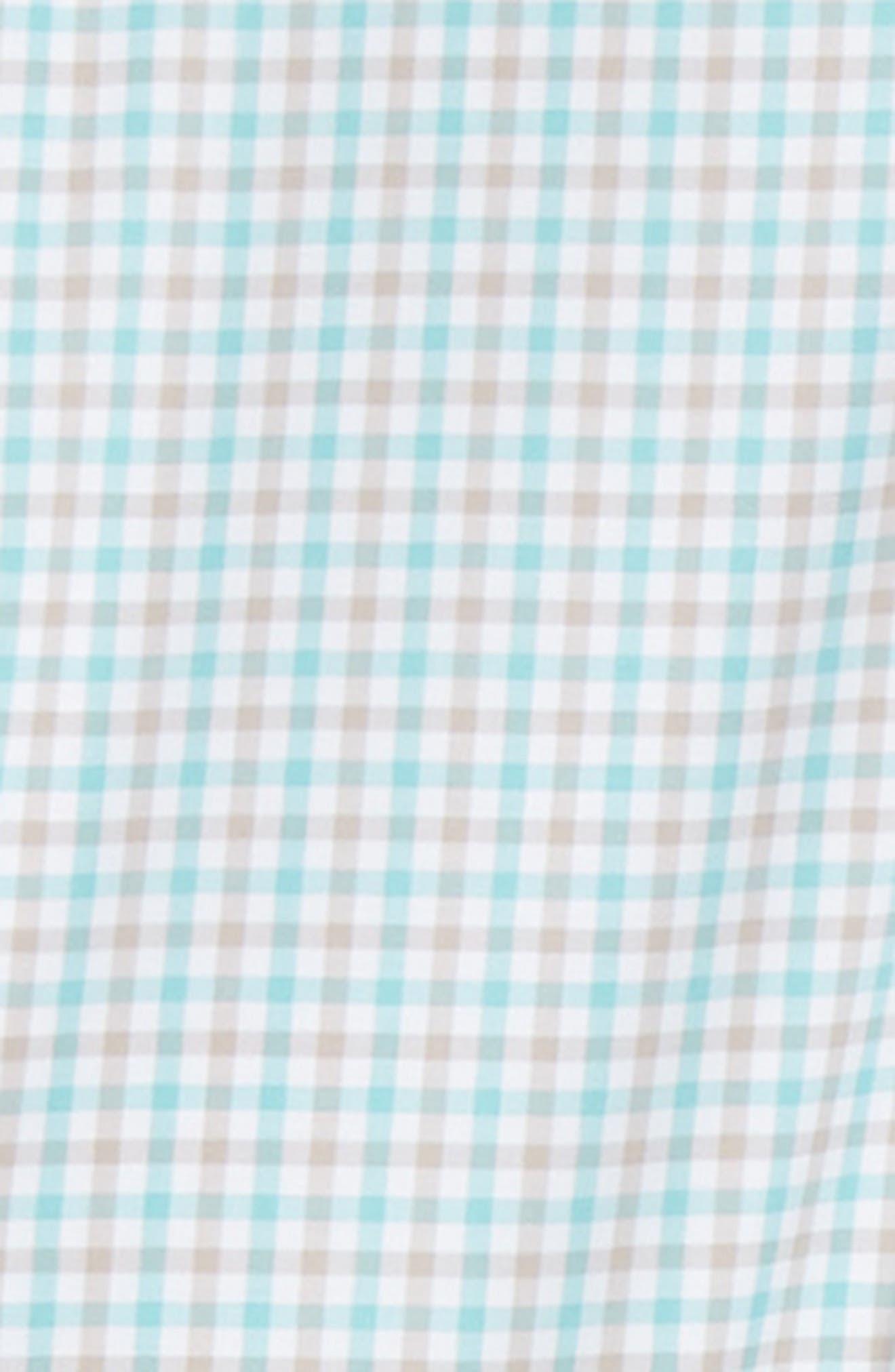 Crown Ease Marketplace Regular Fit Check Sport Shirt,                             Alternate thumbnail 6, color,                             GREEN