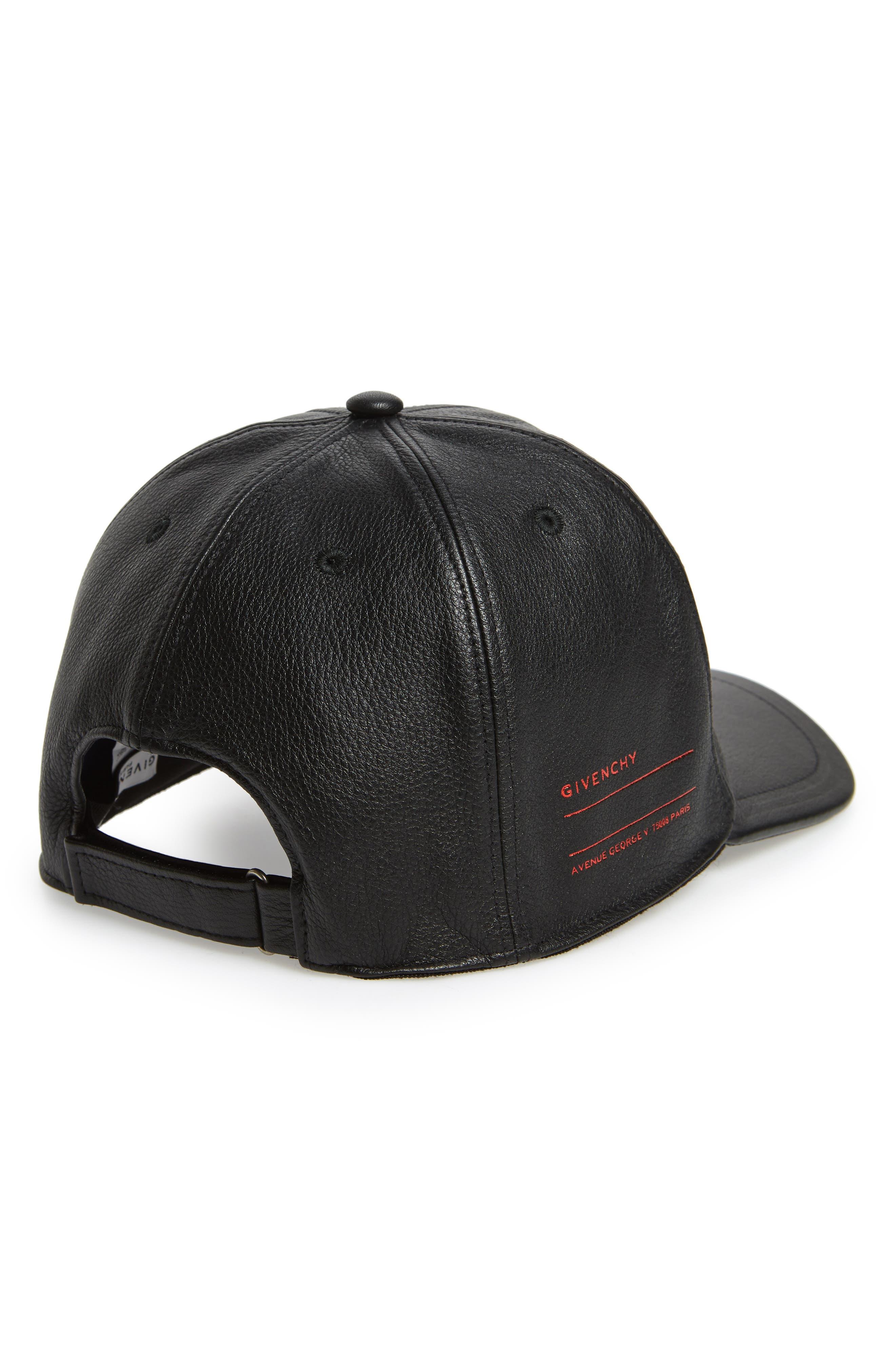 Leather Ball Cap,                             Alternate thumbnail 2, color,                             005