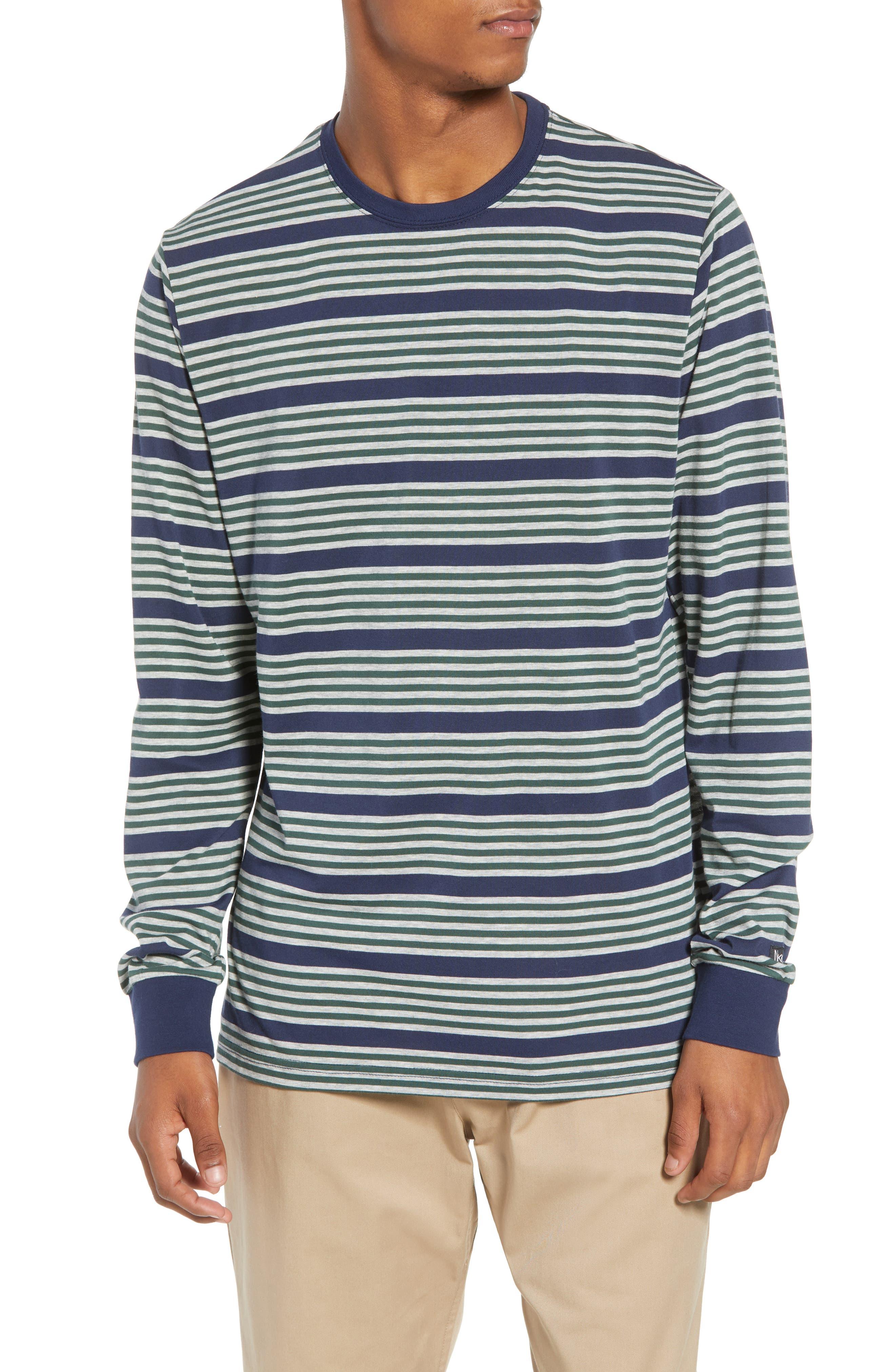 Nike Sb Dry Stripe Long Sleeve T-Shirt, Blue
