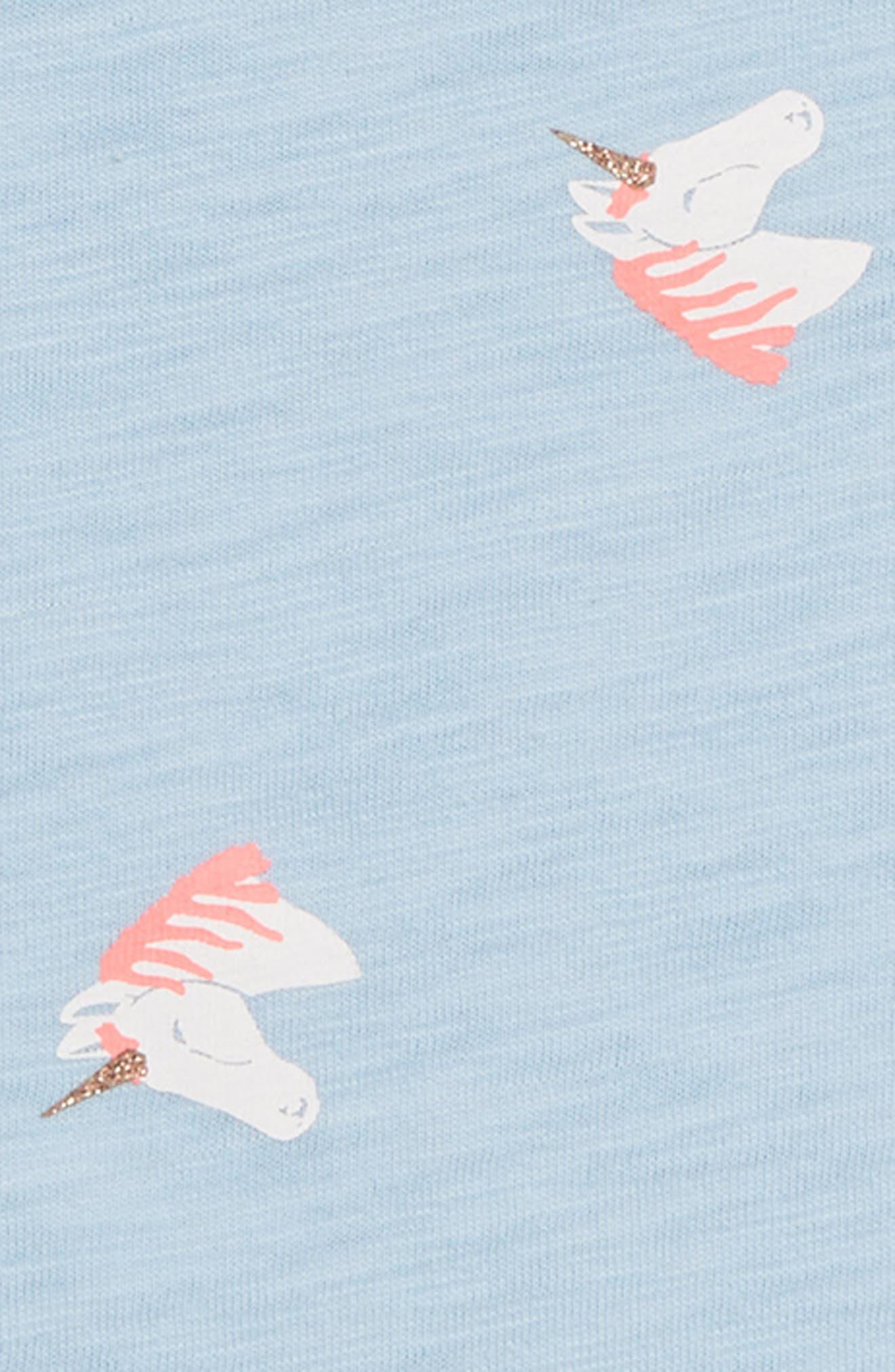 Unicorn Print Tee,                             Alternate thumbnail 2, color,                             400