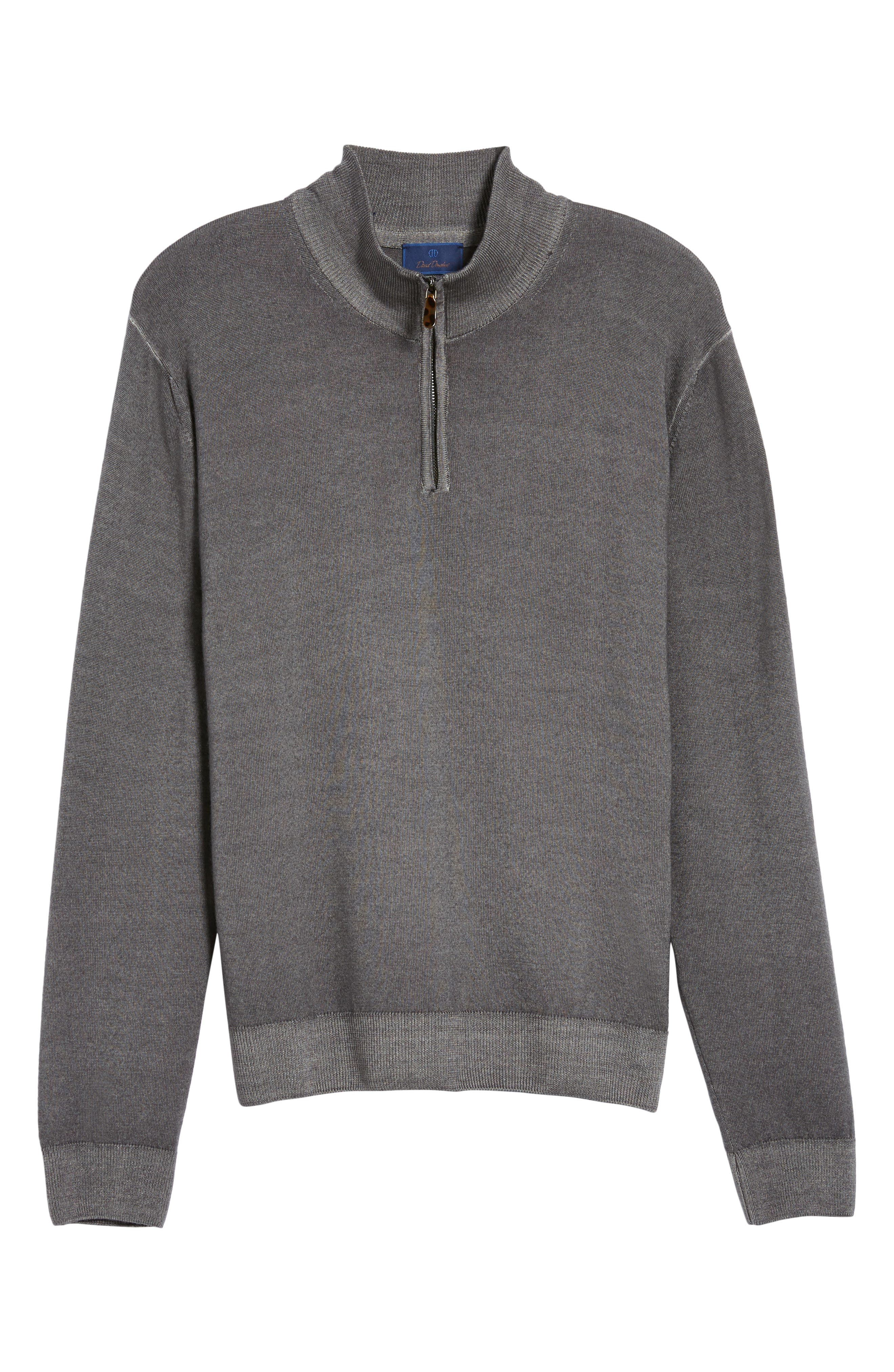 Ice Merino Wool Quarter Zip Pullover,                             Alternate thumbnail 6, color,                             010