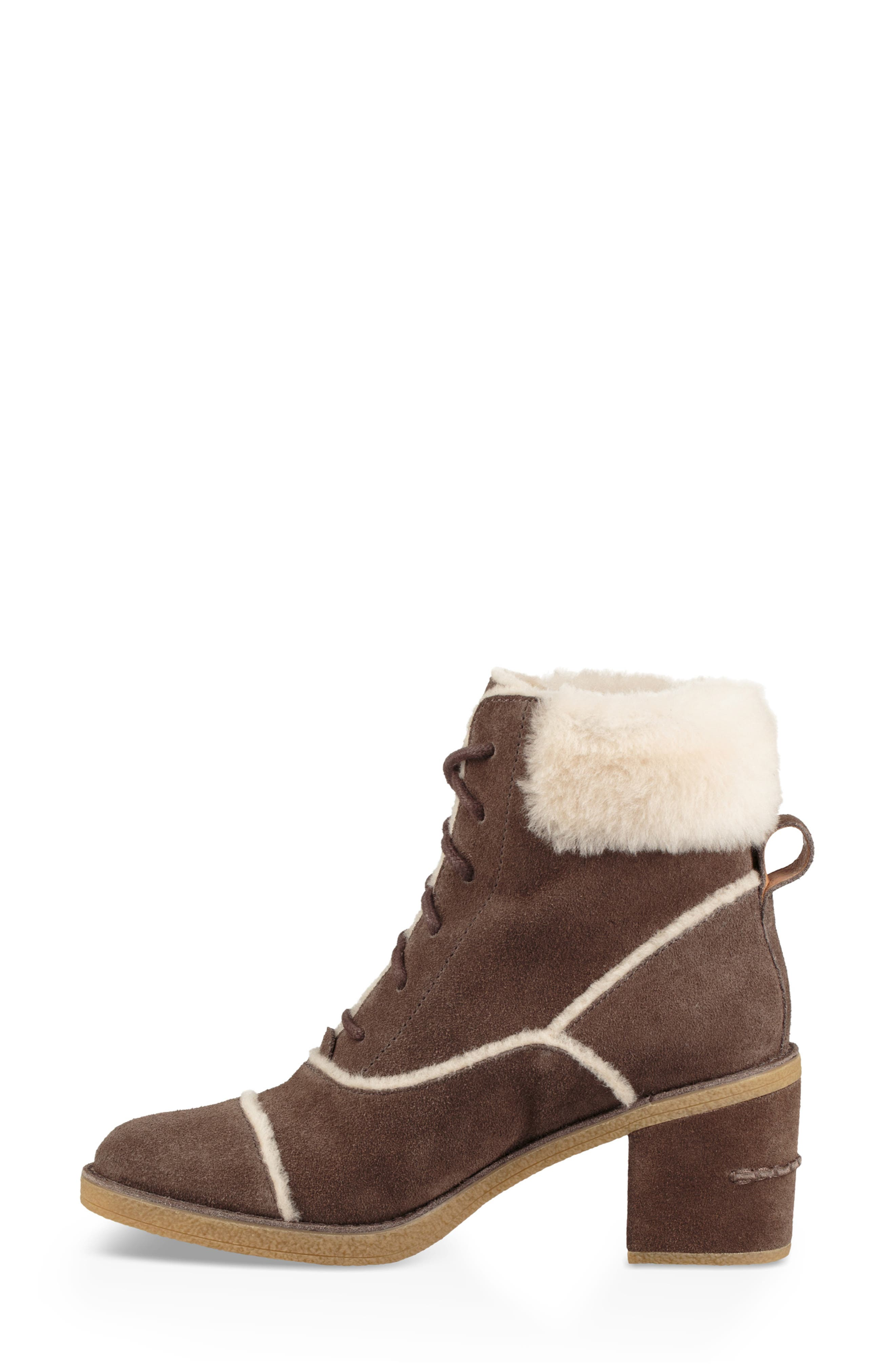 Esterly Genuine Shearling Boot,                             Alternate thumbnail 6, color,                             MYSTERIOUS