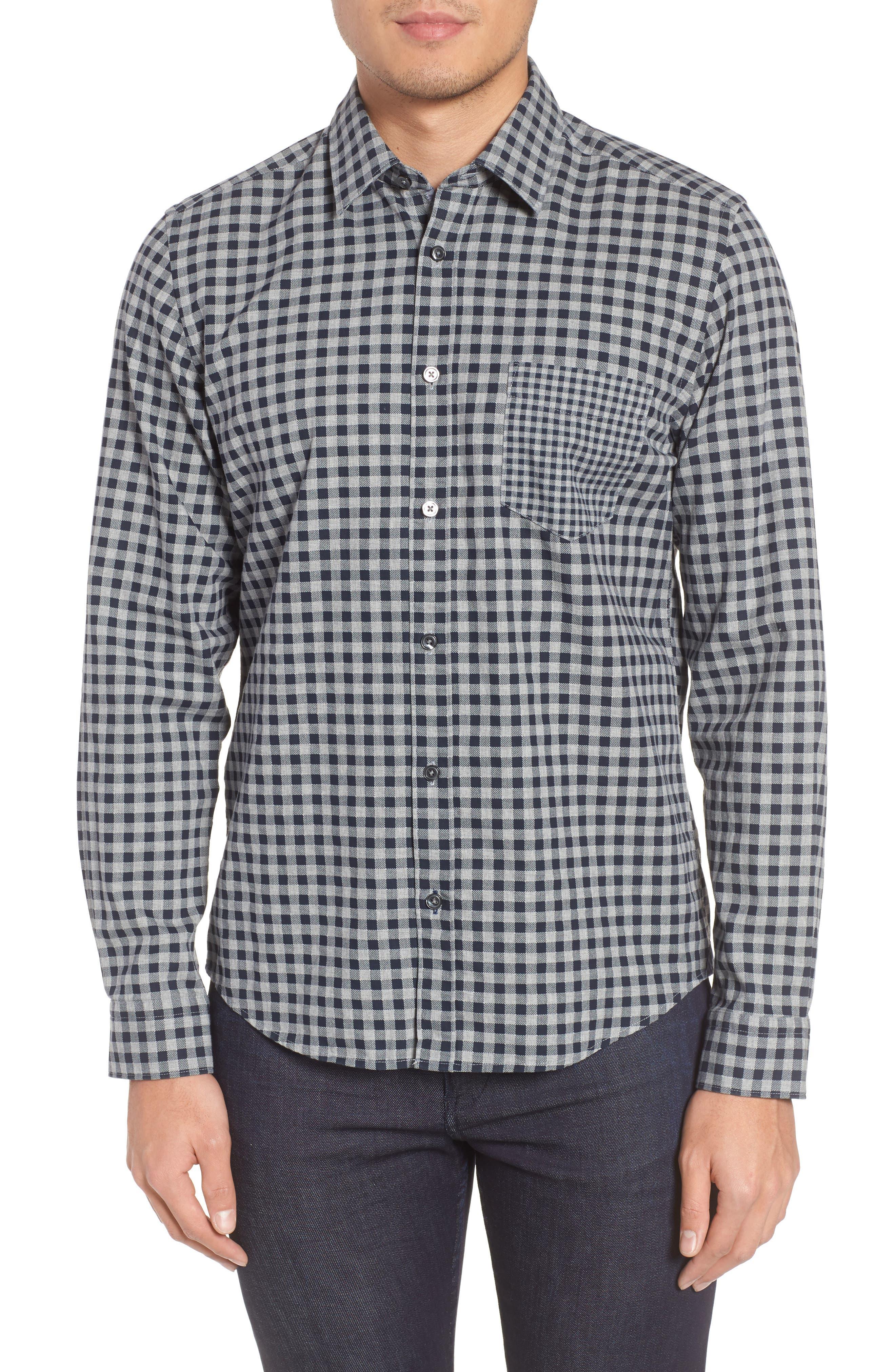 Lance Regular Fit Gingham Sport Shirt,                         Main,                         color, 410