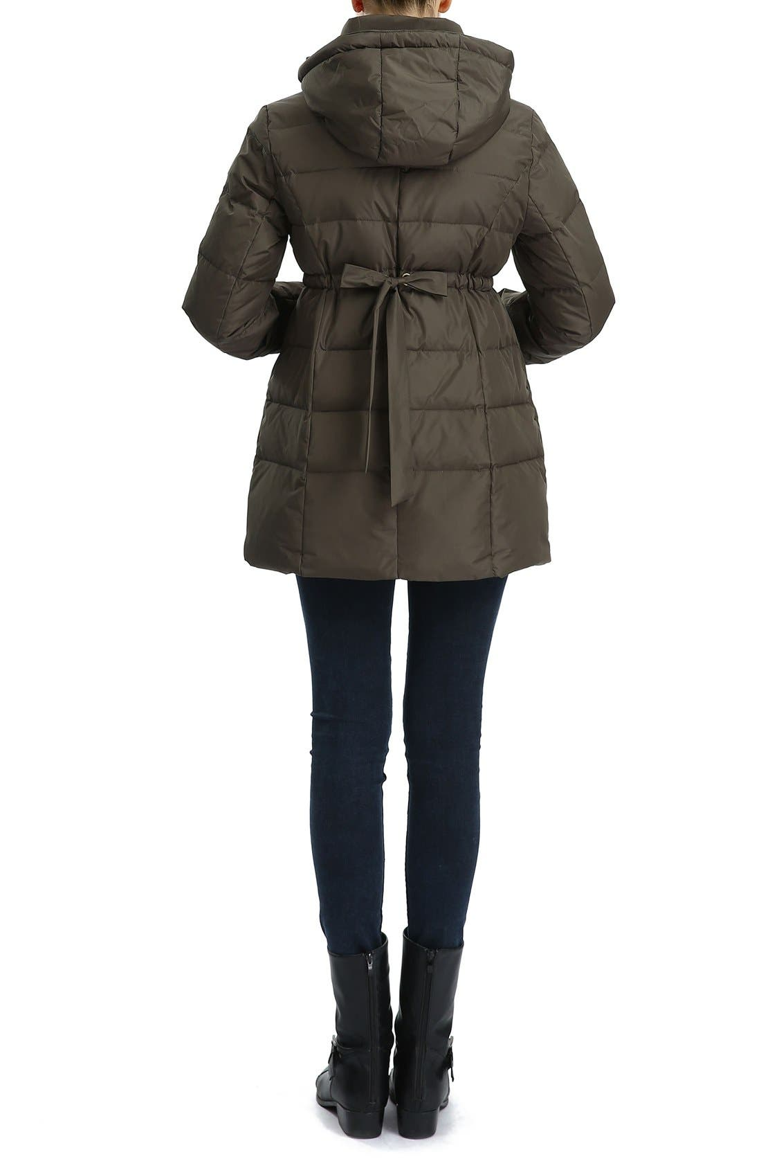 'Marlo' Water Resistant Down Maternity Parka,                             Alternate thumbnail 5, color,