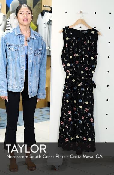 Tiered Floral Midi Dress, sales video thumbnail