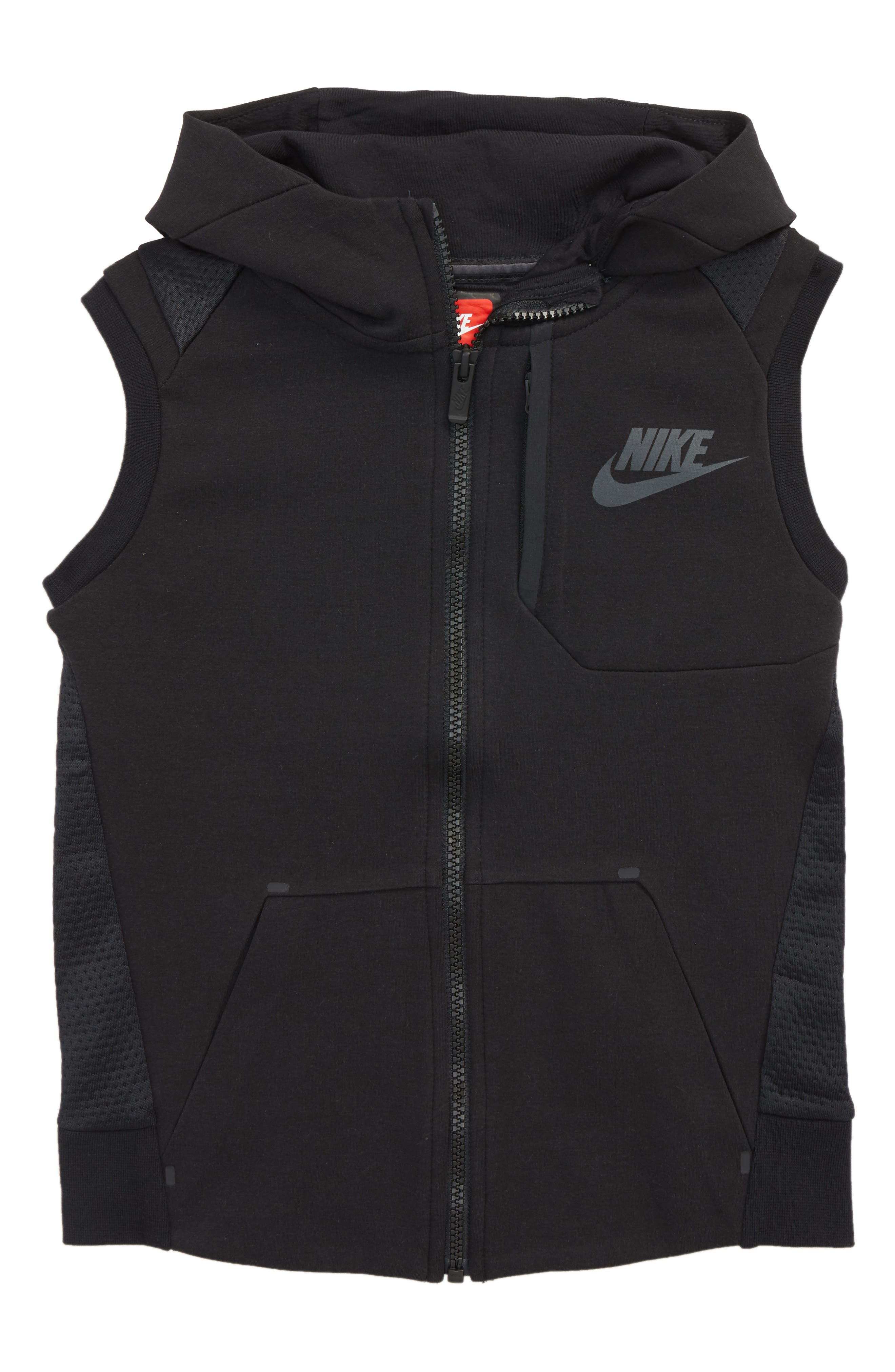 Tech Fleece Hooded Vest,                             Main thumbnail 1, color,                             004