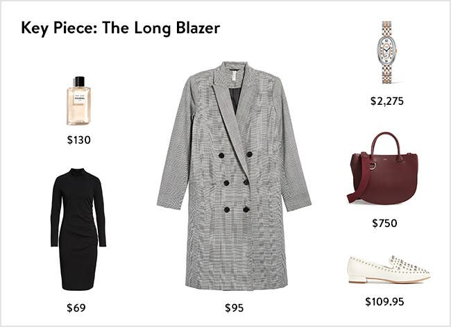 Key piece: the long blazer.