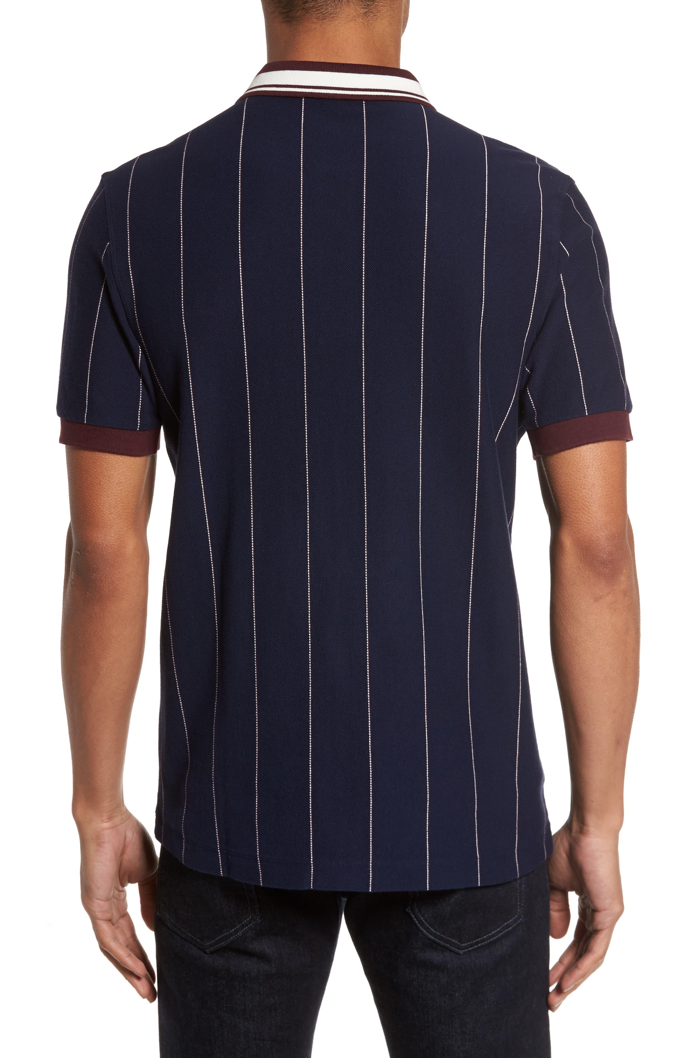 Stripe Piqué Polo,                             Alternate thumbnail 2, color,                             024