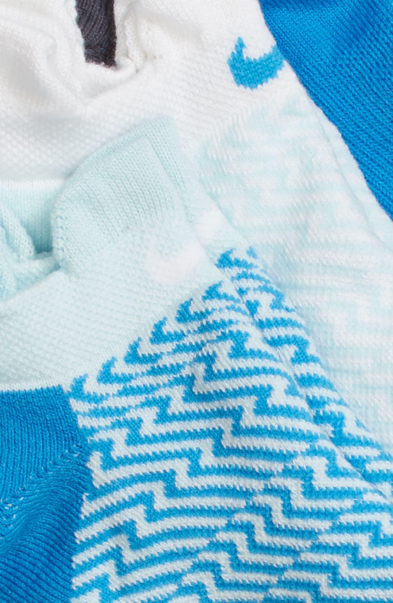 Elite 3-Pack Reflective Running Tab Socks,                             Alternate thumbnail 7, color,