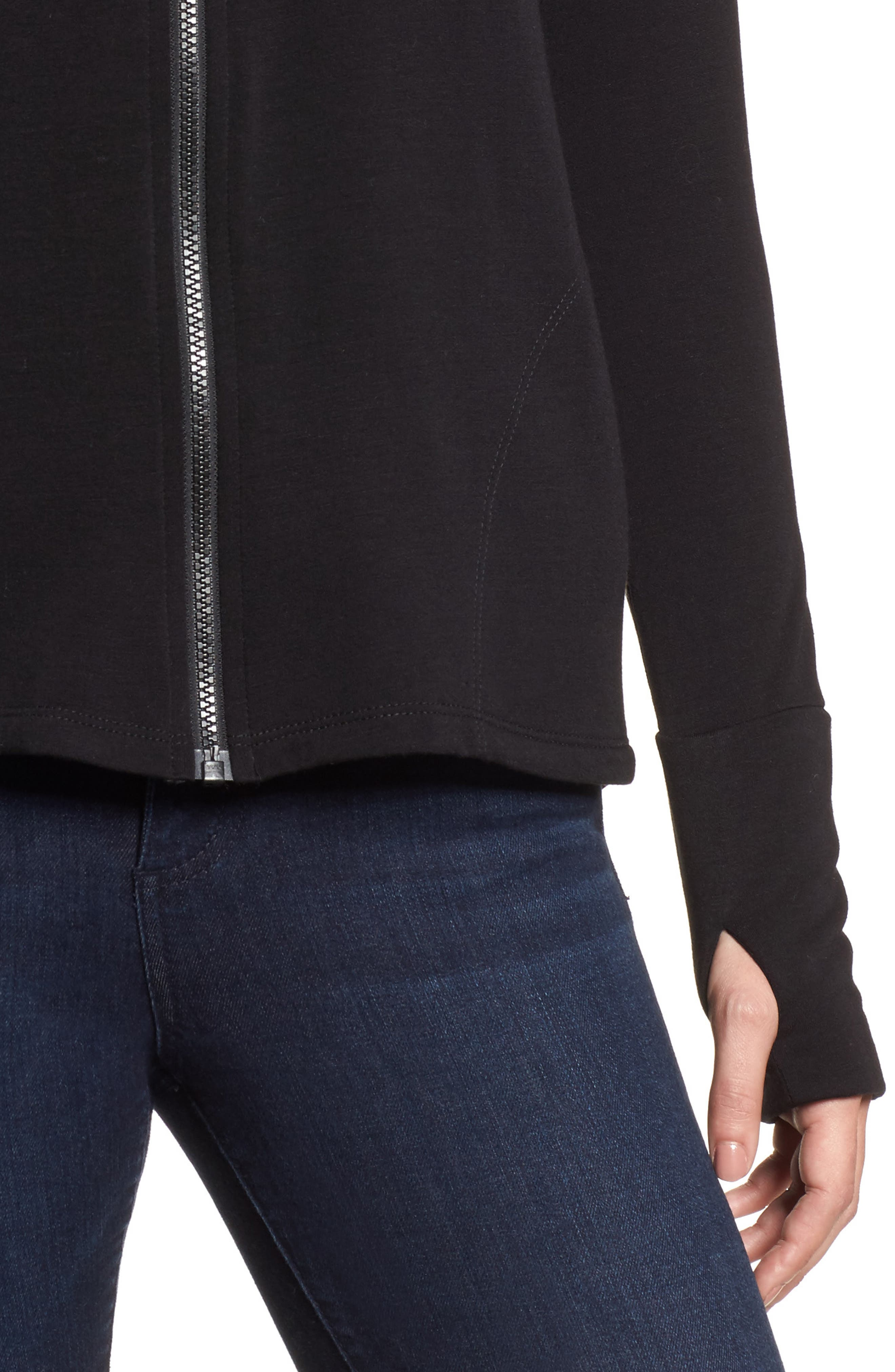 Off-Duty Zip Front Hooded Jacket,                             Alternate thumbnail 4, color,                             001
