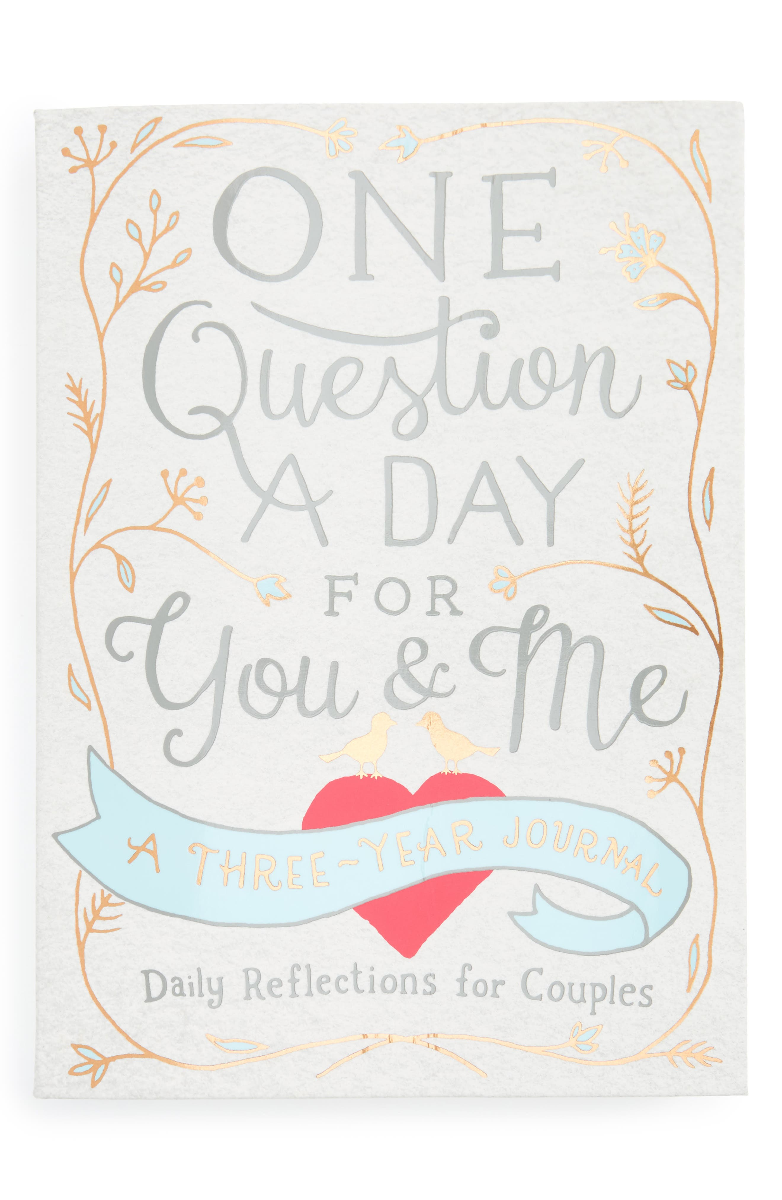 'One Question A Day For You & Me: Daily Reflections for Couples' Three-Year Journal,                             Main thumbnail 1, color,