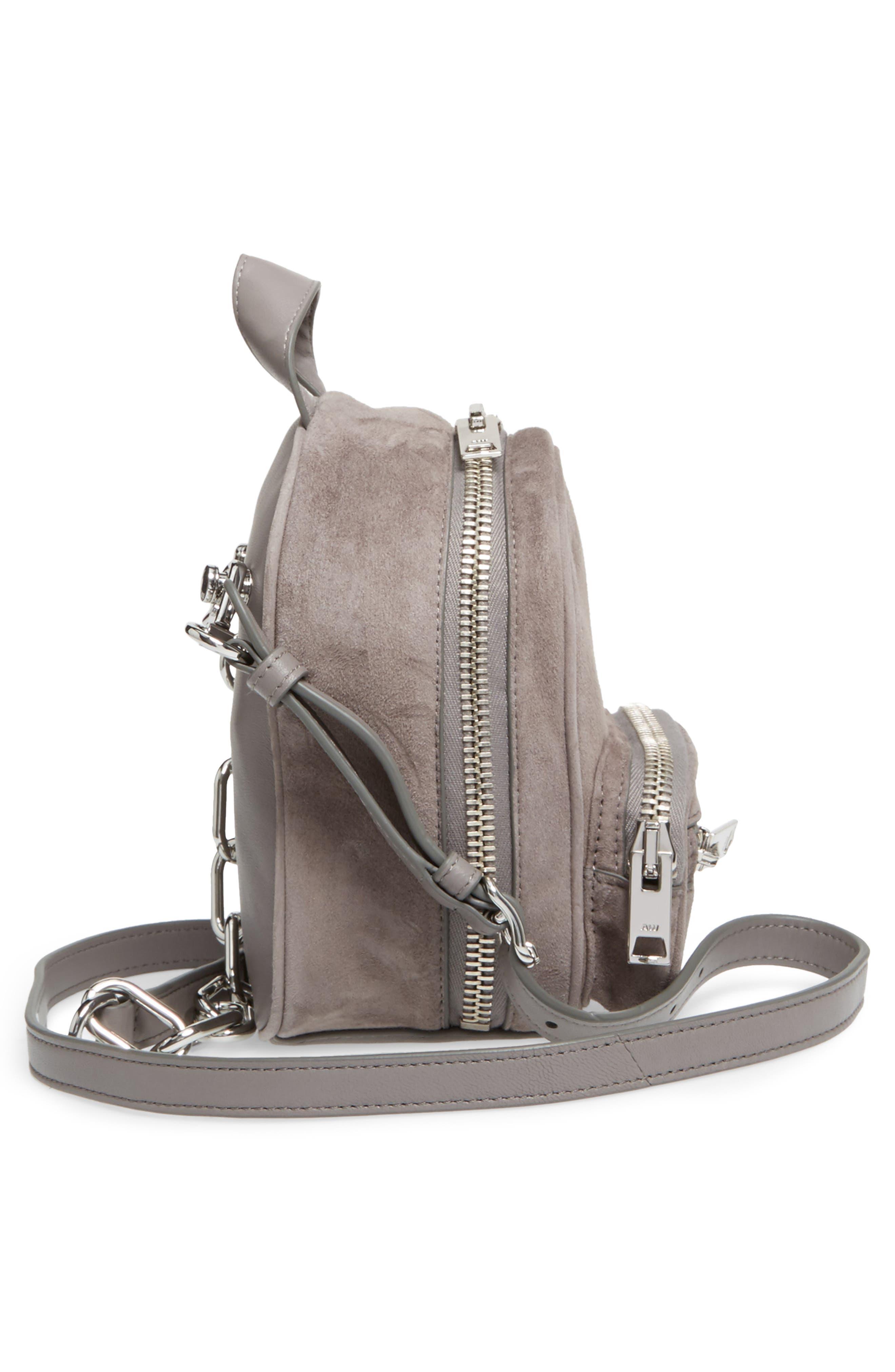 Mini Attica Leather Crossbody Backpack,                             Alternate thumbnail 5, color,                             080