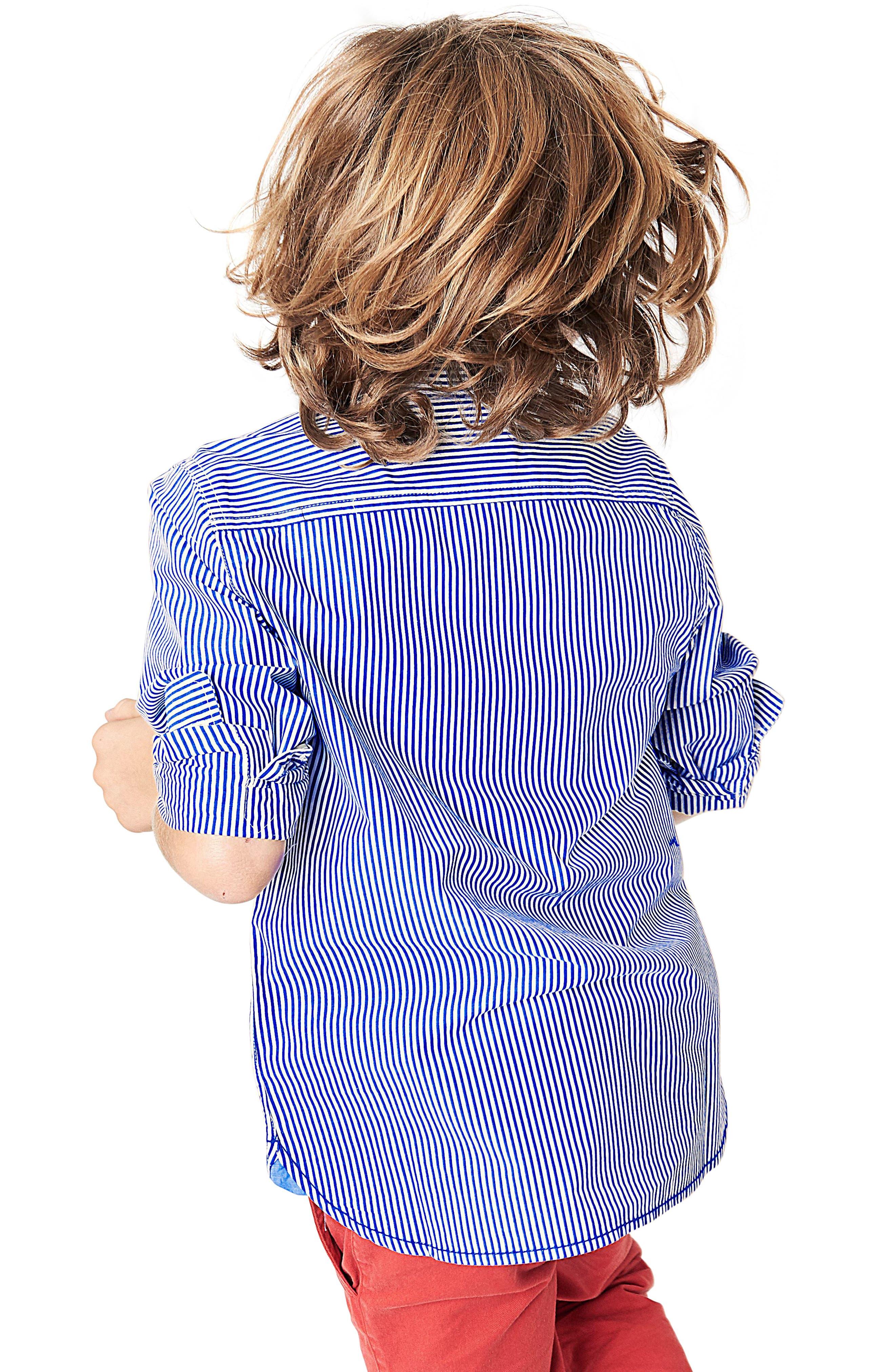 Laundered Stripe Woven Shirt,                             Alternate thumbnail 3, color,                             454