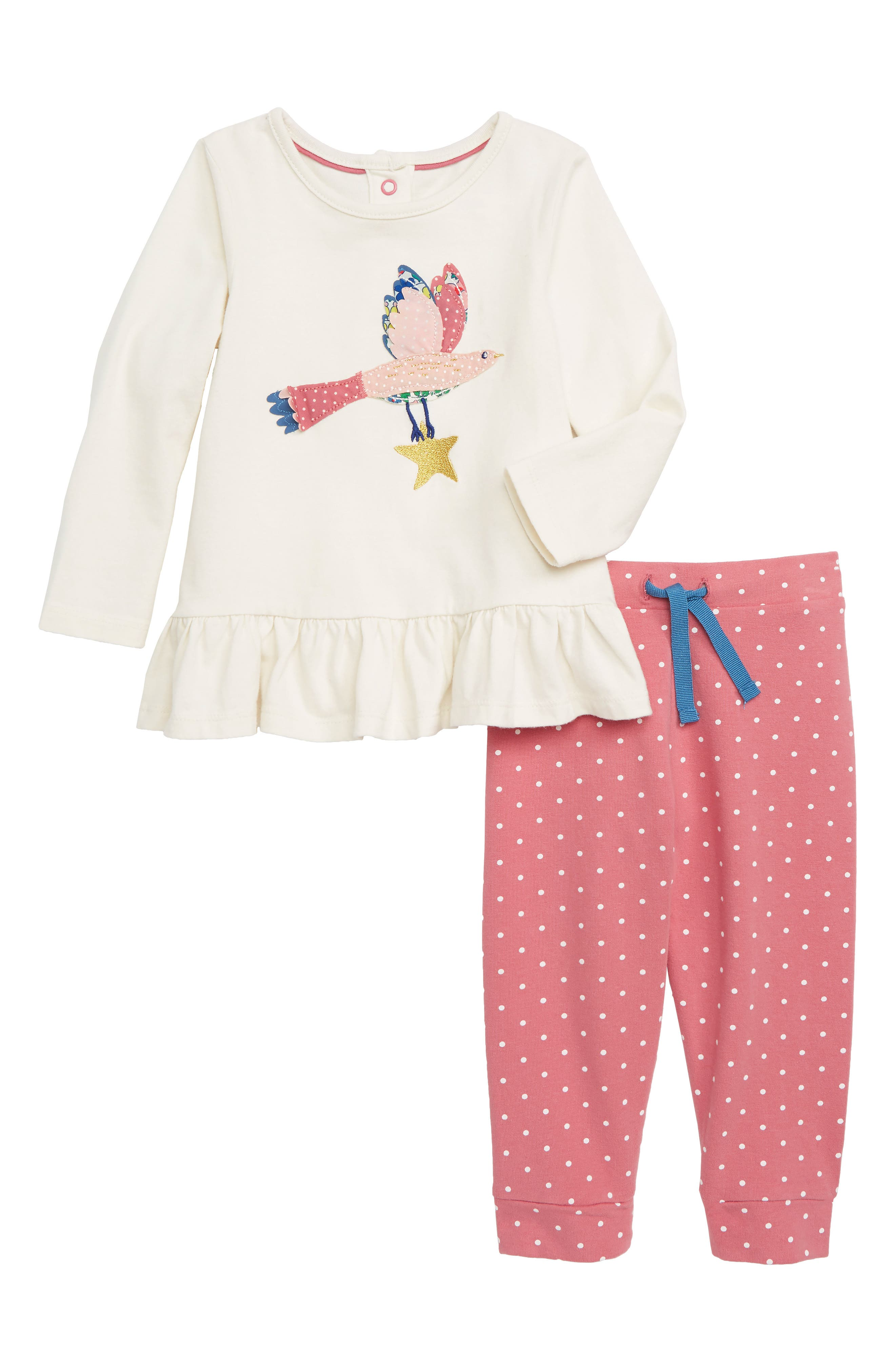 Toddler Girls Mini Boden Magical Applique Tee  Leggings Set