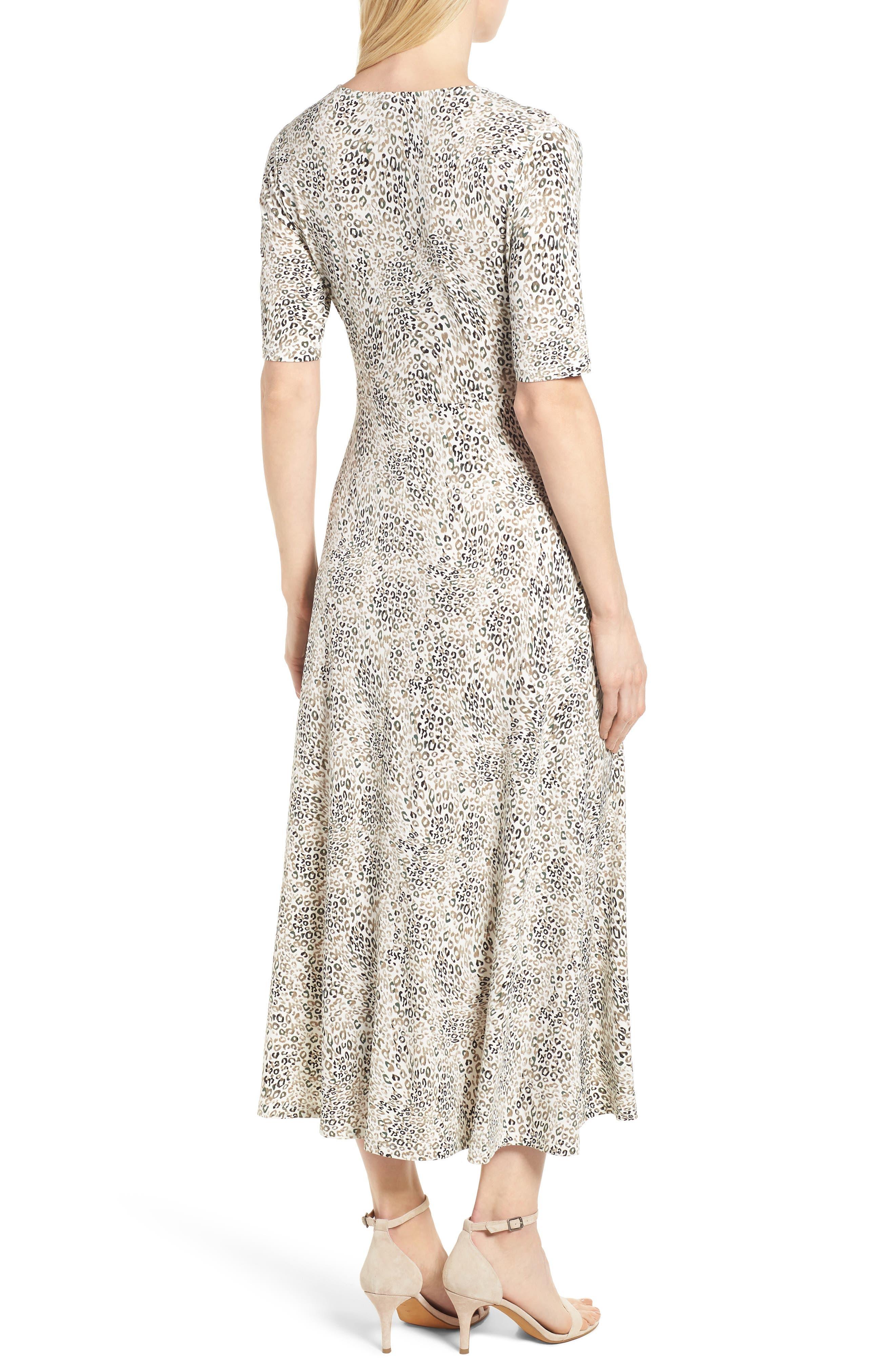 Leopard Print Maxi Dress,                             Alternate thumbnail 2, color,                             900