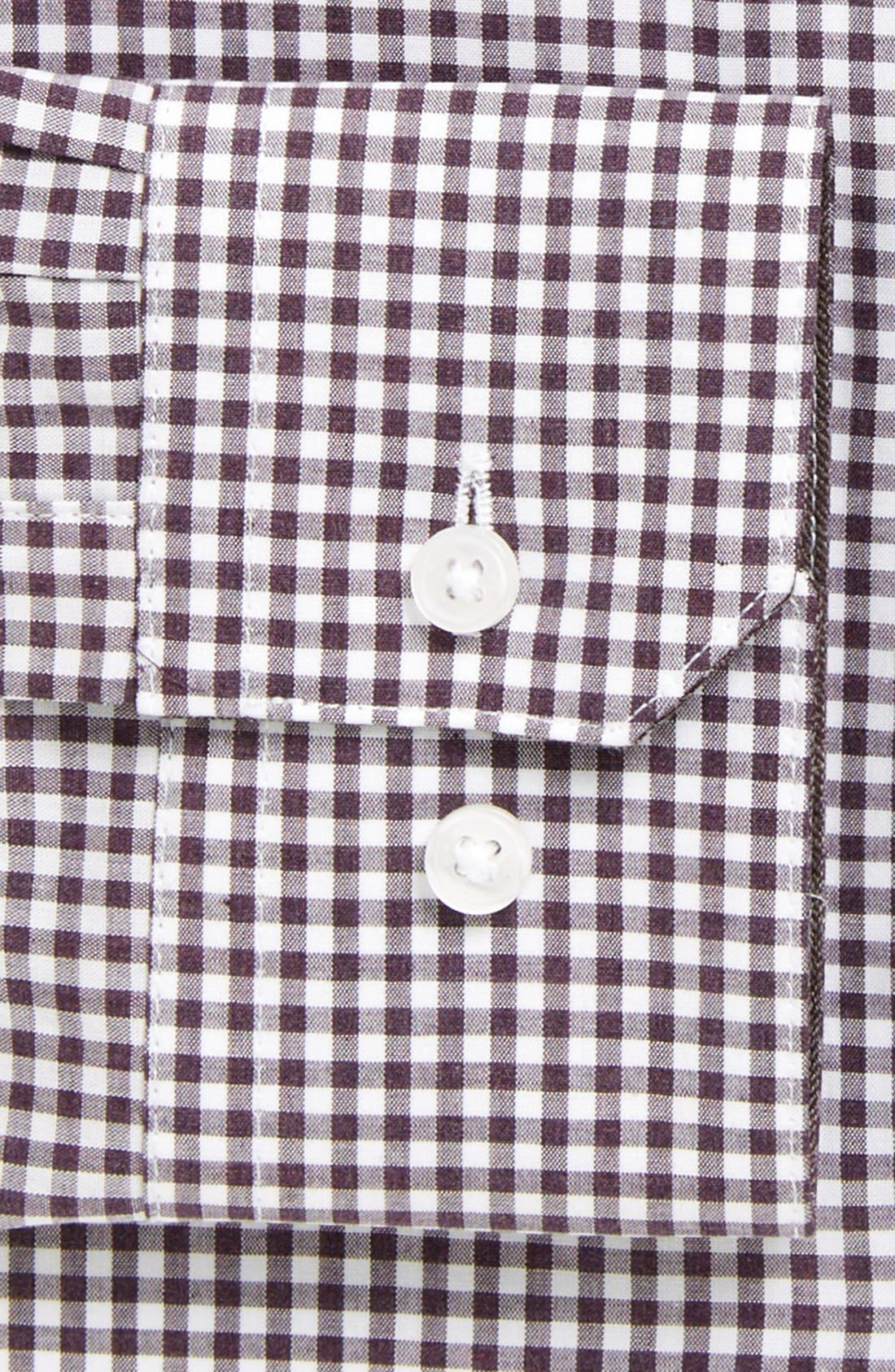 Extra Trim Fit Check Dress Shirt,                             Alternate thumbnail 2, color,                             501