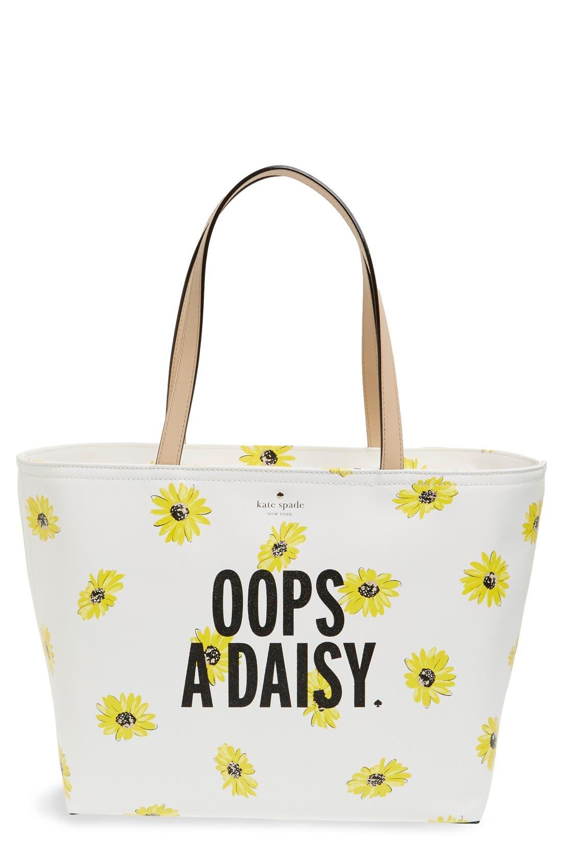 'oops-a-daisy - francis' tote,                             Main thumbnail 1, color,                             250