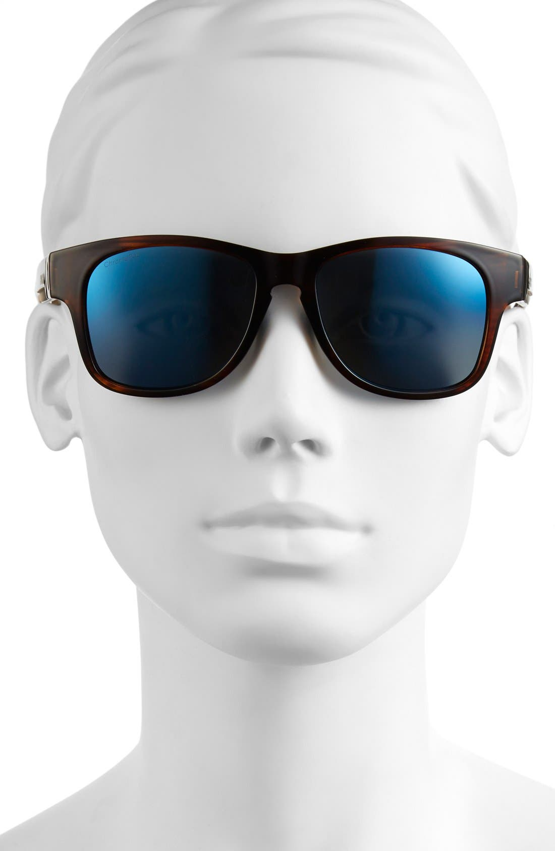 'Wayward' 54mm Polarized Sunglasses,                             Alternate thumbnail 2, color,                             HAVANA/ POLAR BLUE MIRROR