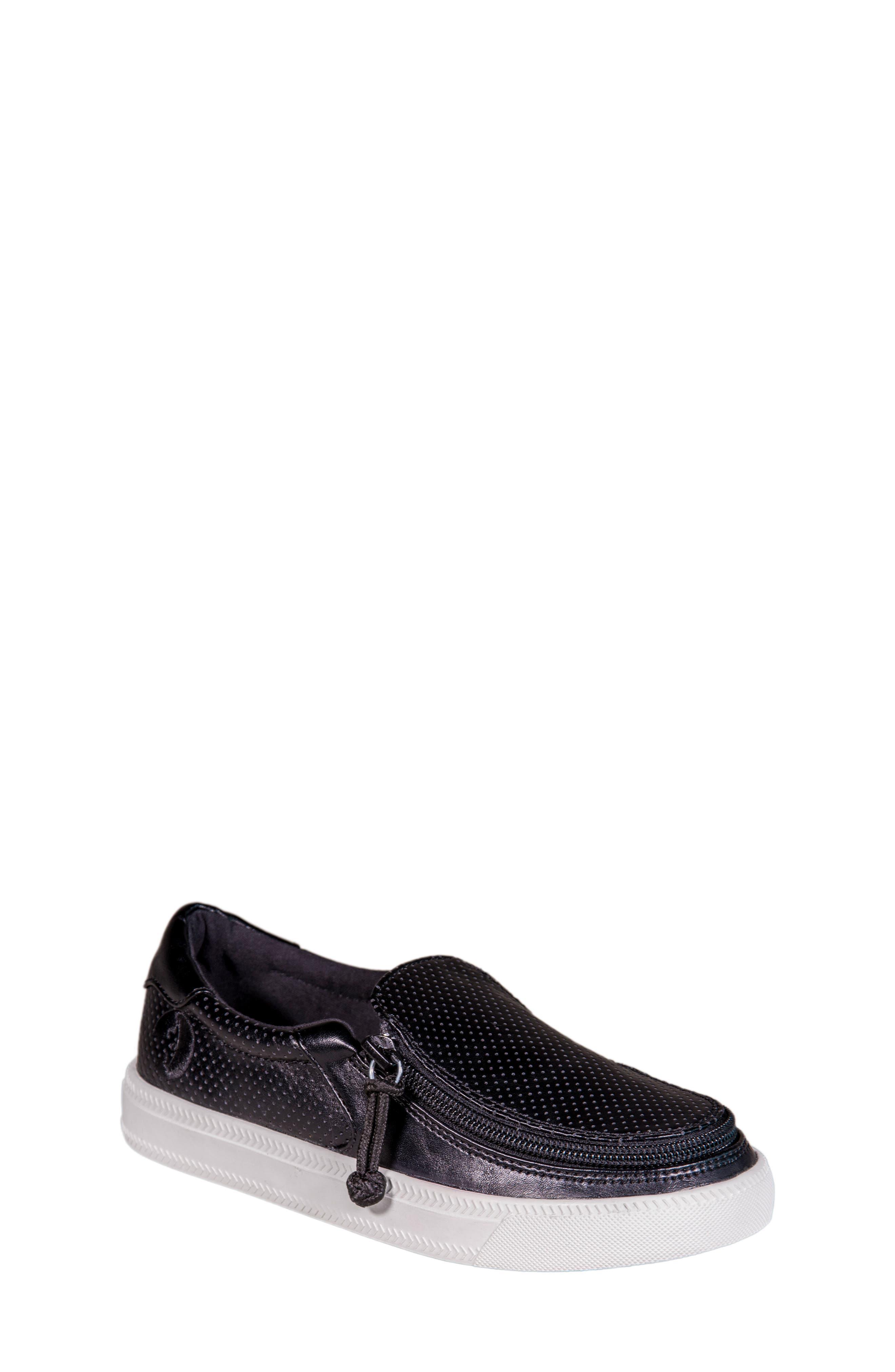 Zip Around Perforated Low Top Sneaker,                             Main thumbnail 1, color,