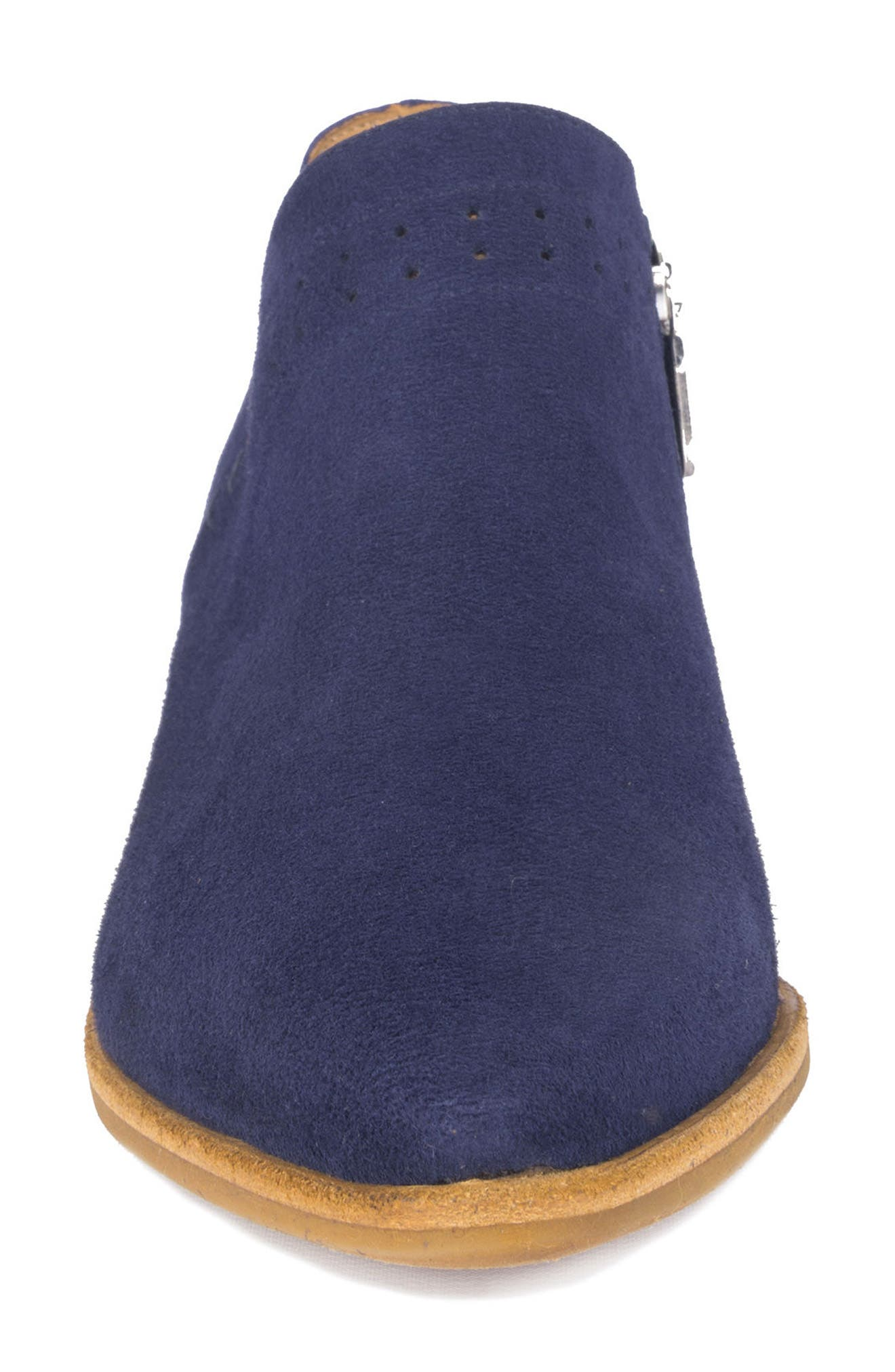 Florence Water Resistant Bootie,                             Alternate thumbnail 4, color,                             DENIM