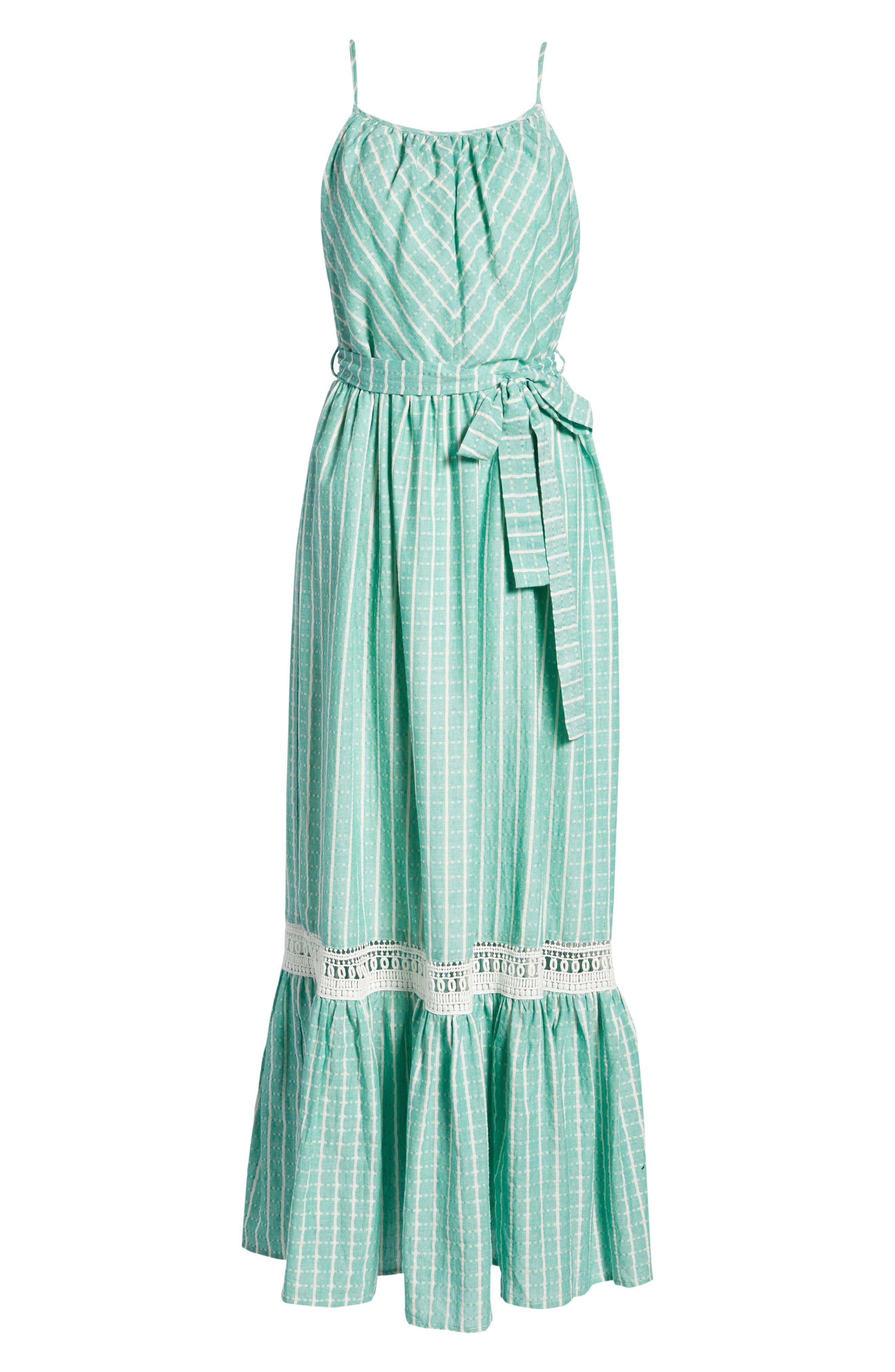 Tie Waist Cotton Maxi Dress,                             Alternate thumbnail 22, color,