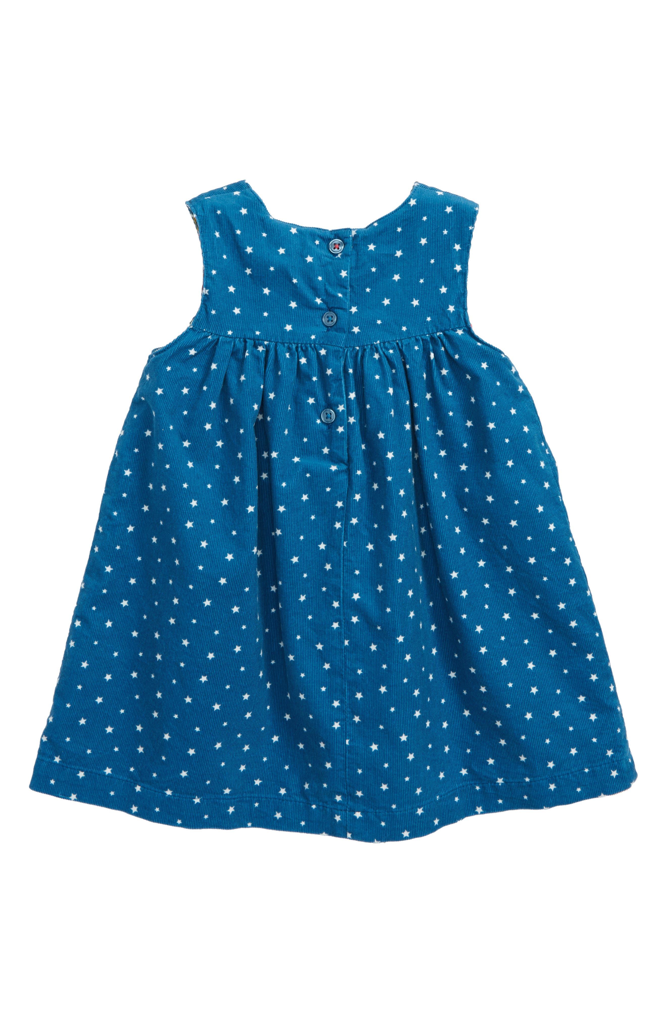 Appliqué Friends Corduroy Dress,                             Alternate thumbnail 2, color,                             400