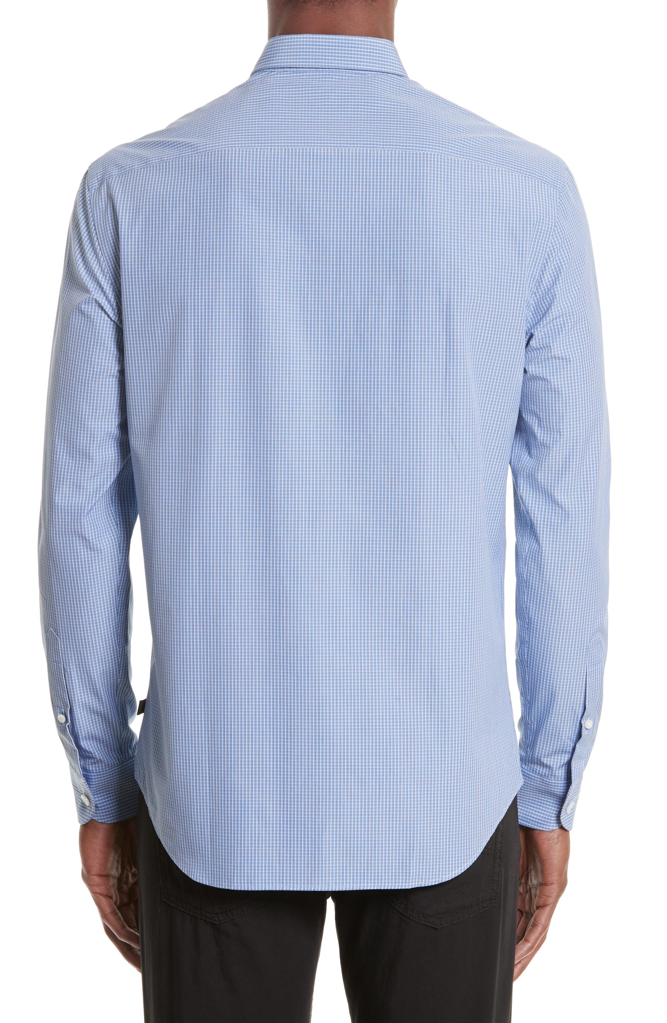 ARMANI COLLEZIONI,                             Micro Check Sport Shirt,                             Alternate thumbnail 2, color,                             482