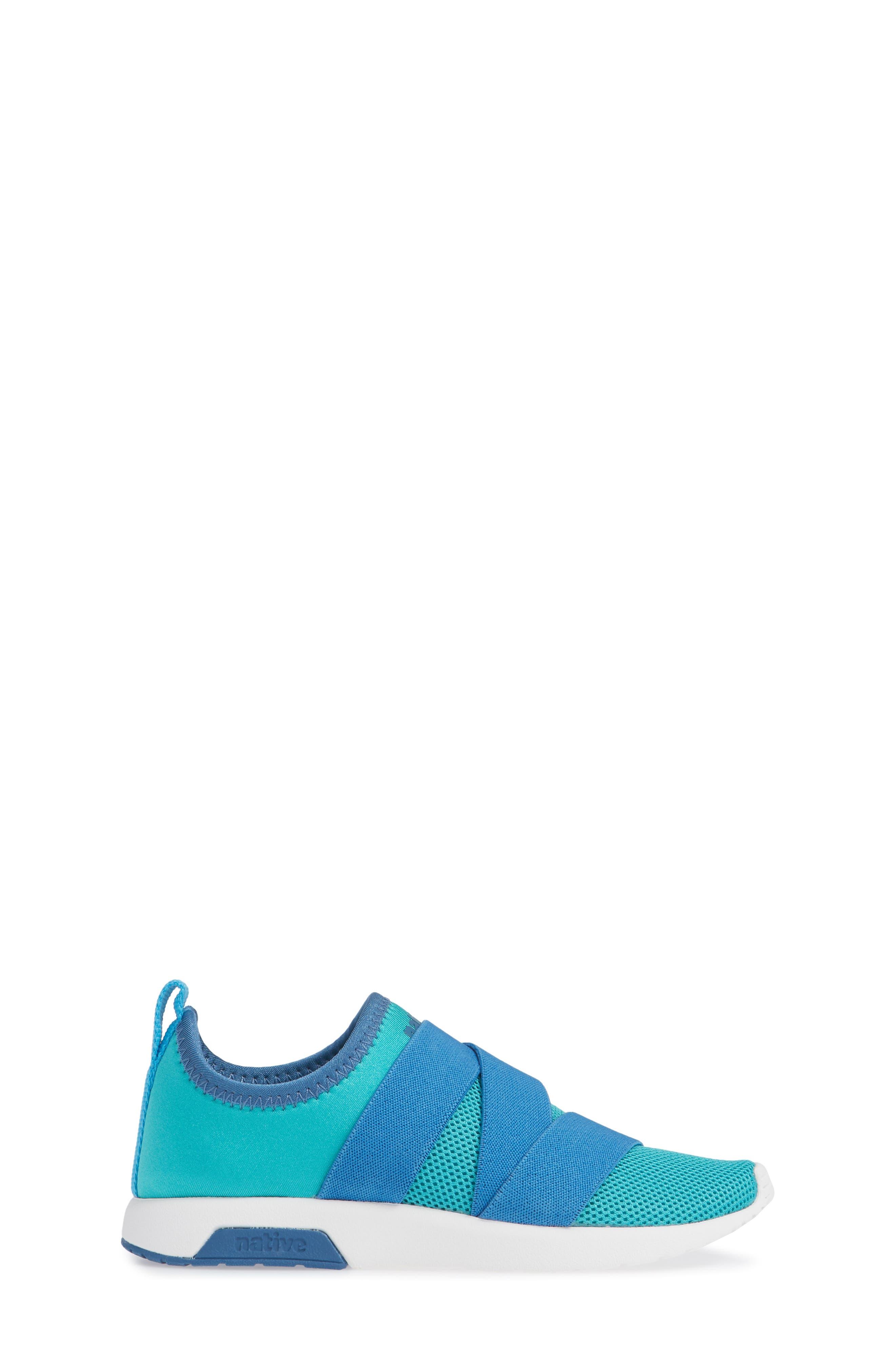 NATIVE SHOES,                             Phoenix Slip-On Vegan Sneaker,                             Alternate thumbnail 3, color,                             GLACIER GREEN/ BLUE/ WHITE