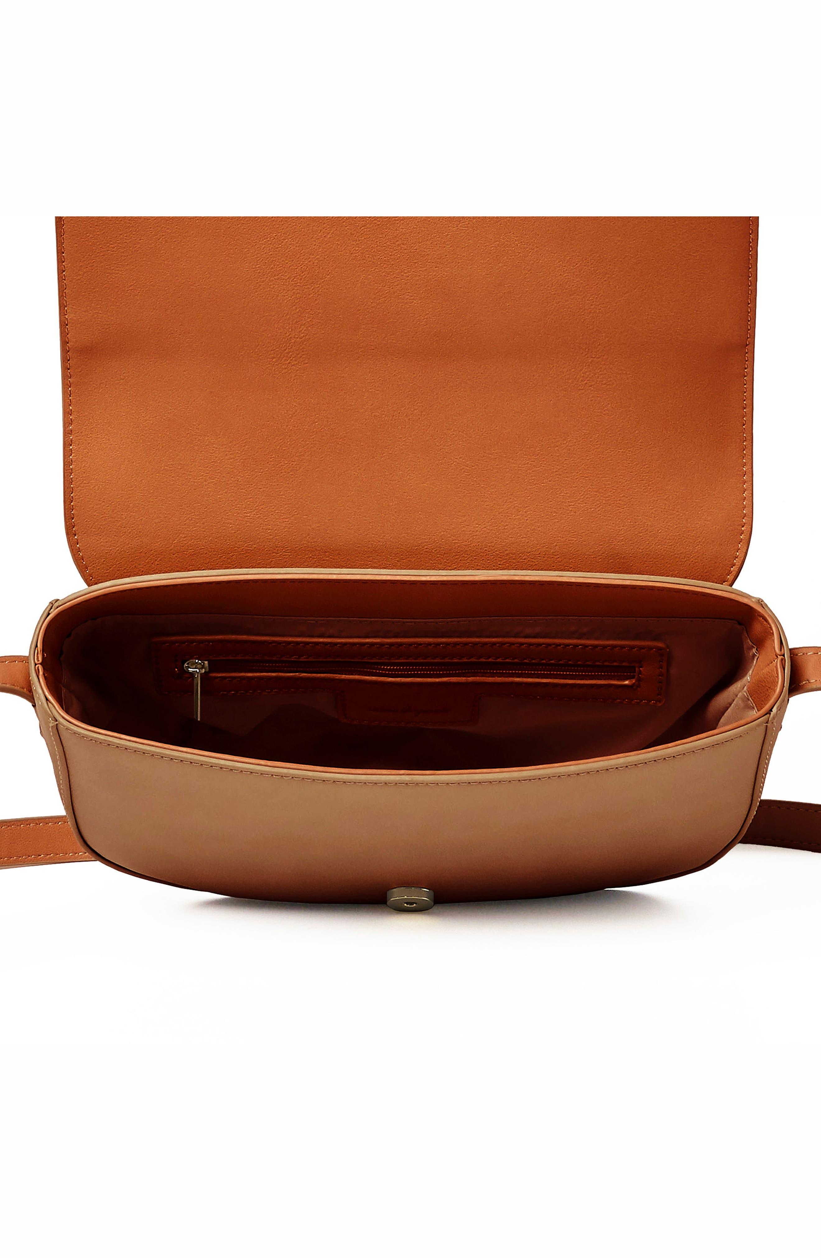 Lolita Vegan Leather Crossbody Bag,                             Alternate thumbnail 2, color,                             CAMEL