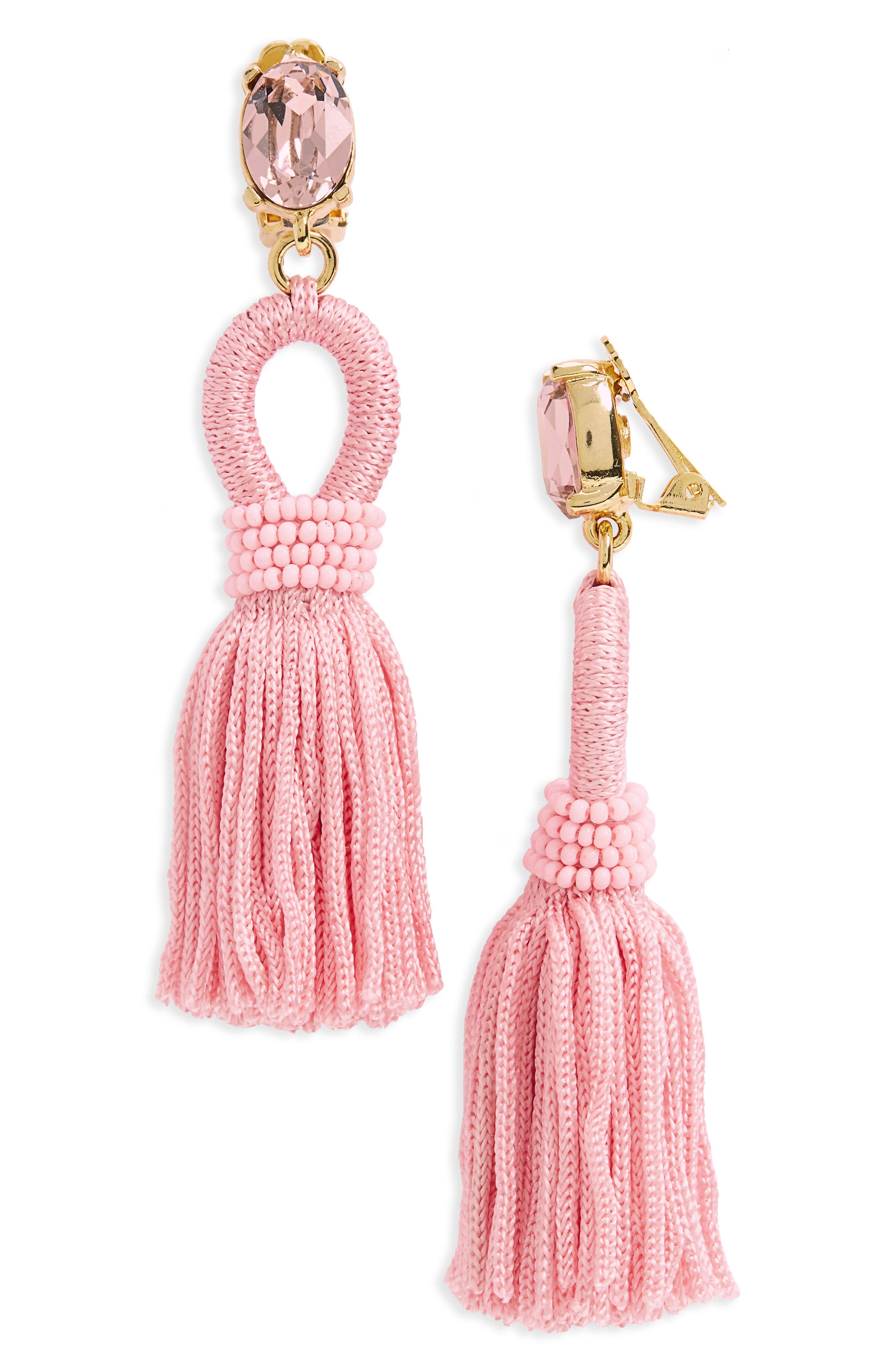 Silk Tassel Drop Earrings,                             Main thumbnail 8, color,