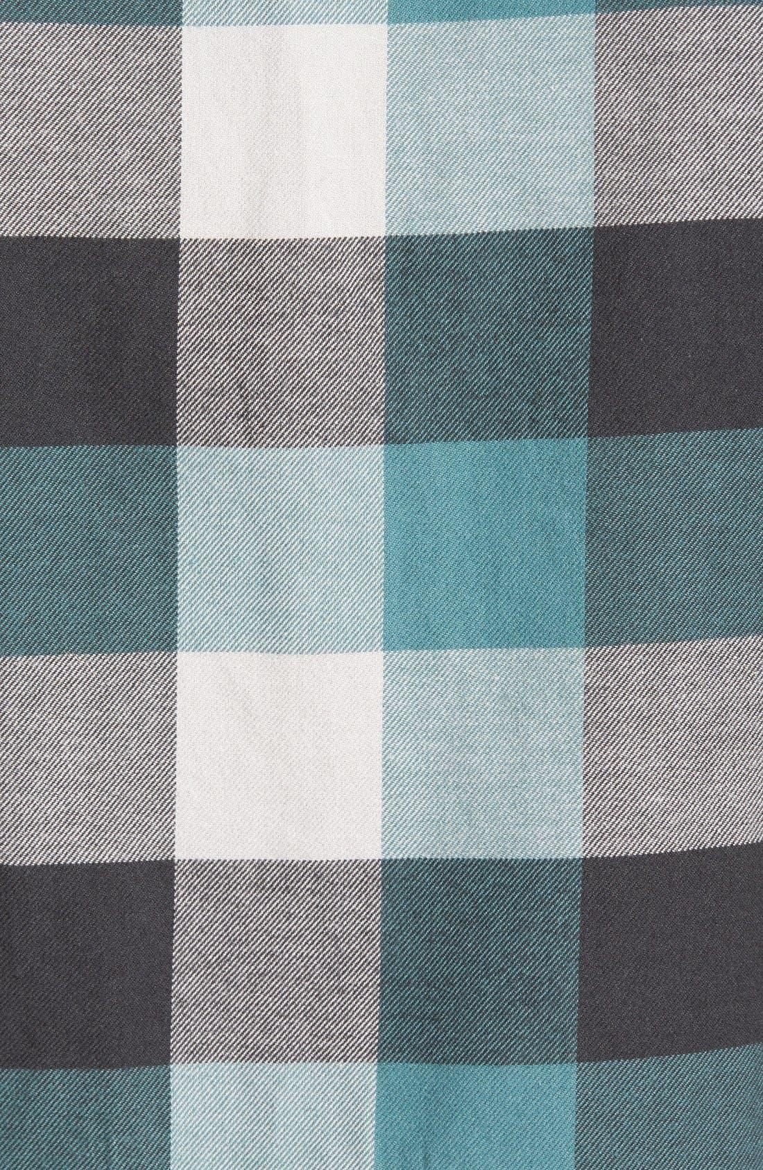 Trim Fit Check Flannel Woven Shirt,                             Alternate thumbnail 9, color,