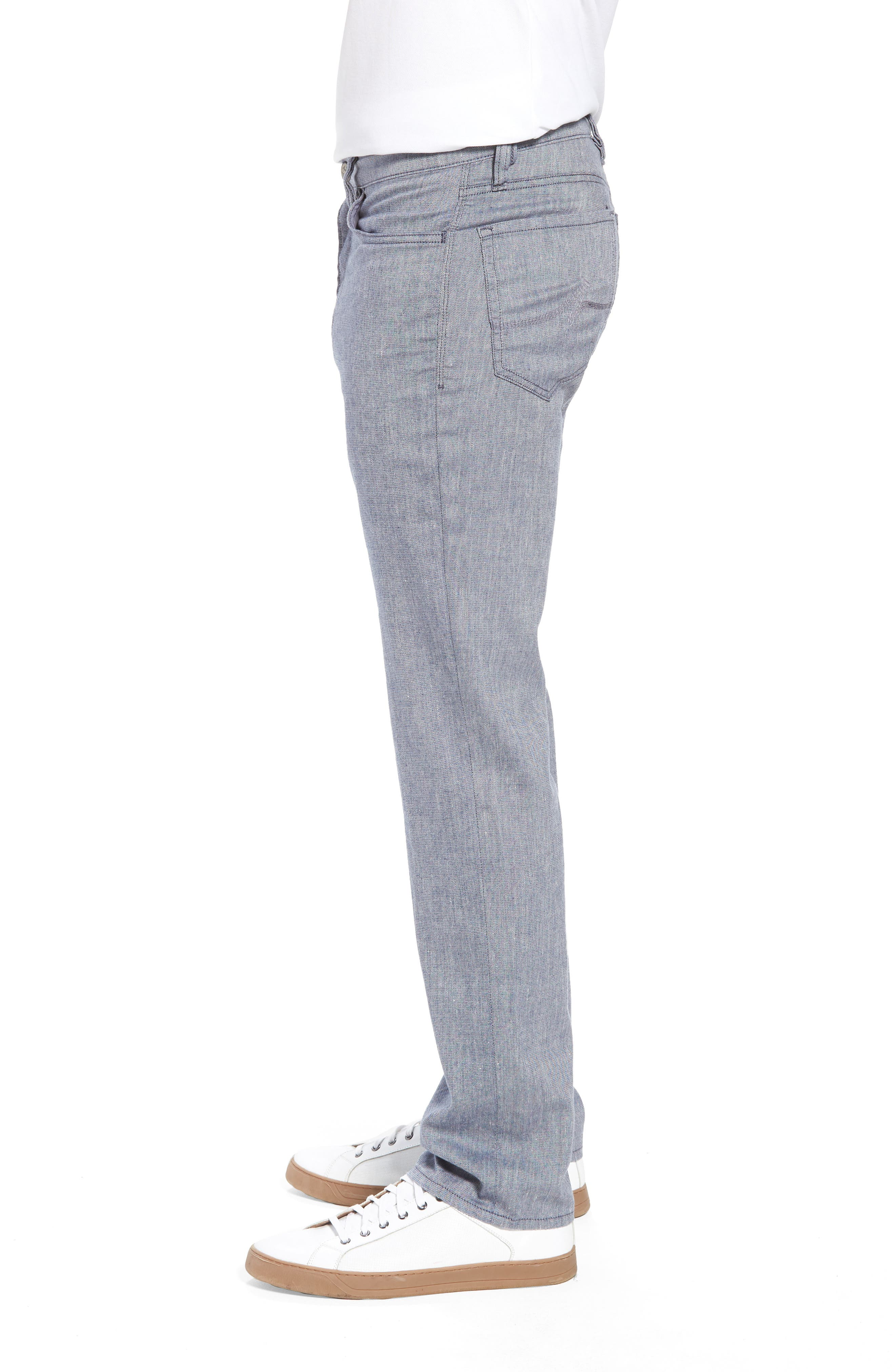 Charisma Relaxed Fit Pants,                             Alternate thumbnail 3, color,                             INDIGO TEXTURED