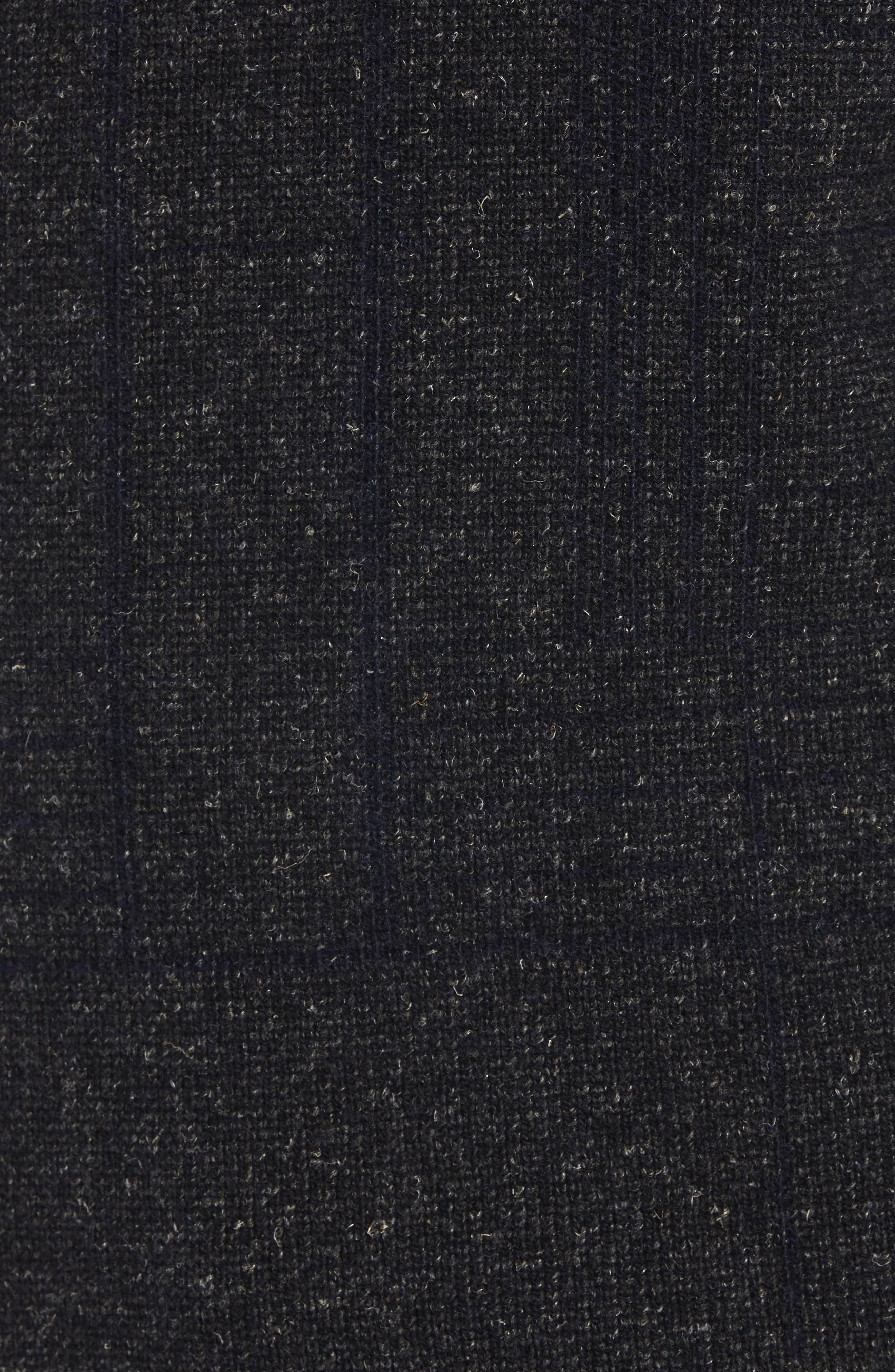 Regular Fit Crewneck Sweater,                             Alternate thumbnail 5, color,                             CHARCOAL
