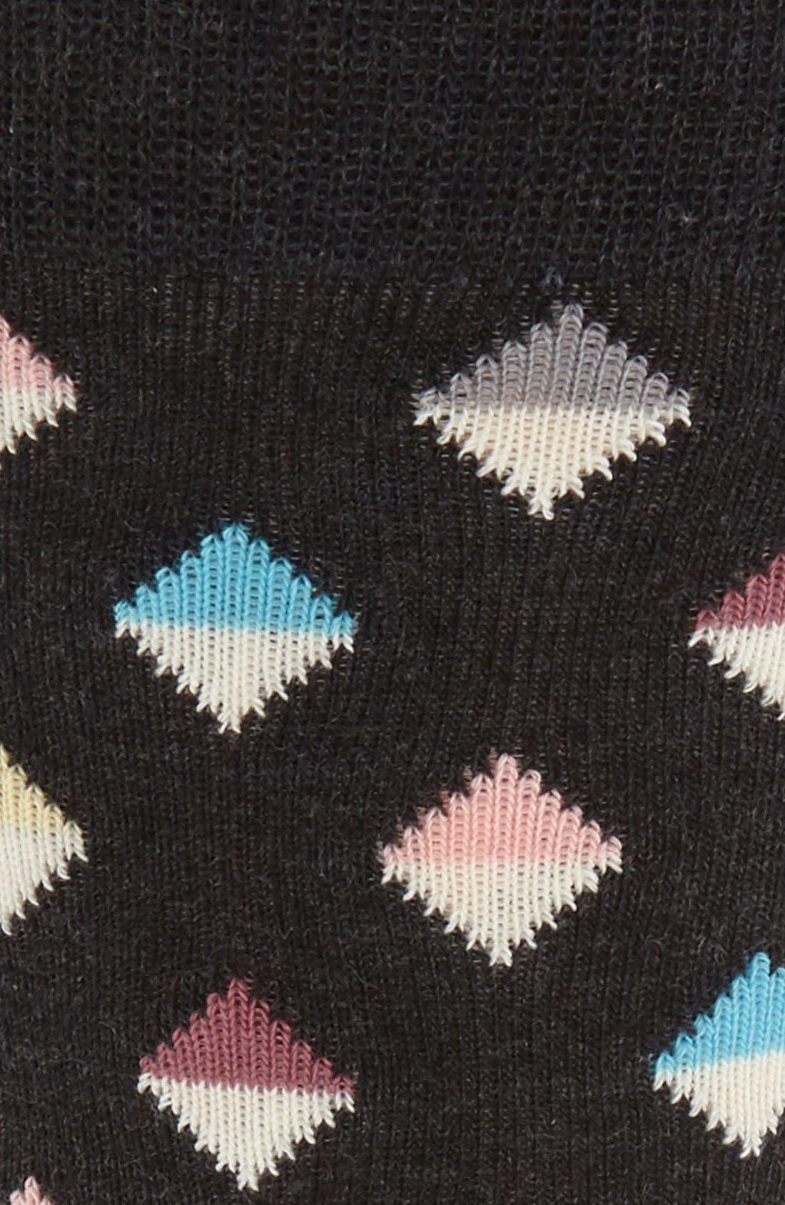 Mini Diamond Cotton Blend Socks,                             Alternate thumbnail 2, color,                             003