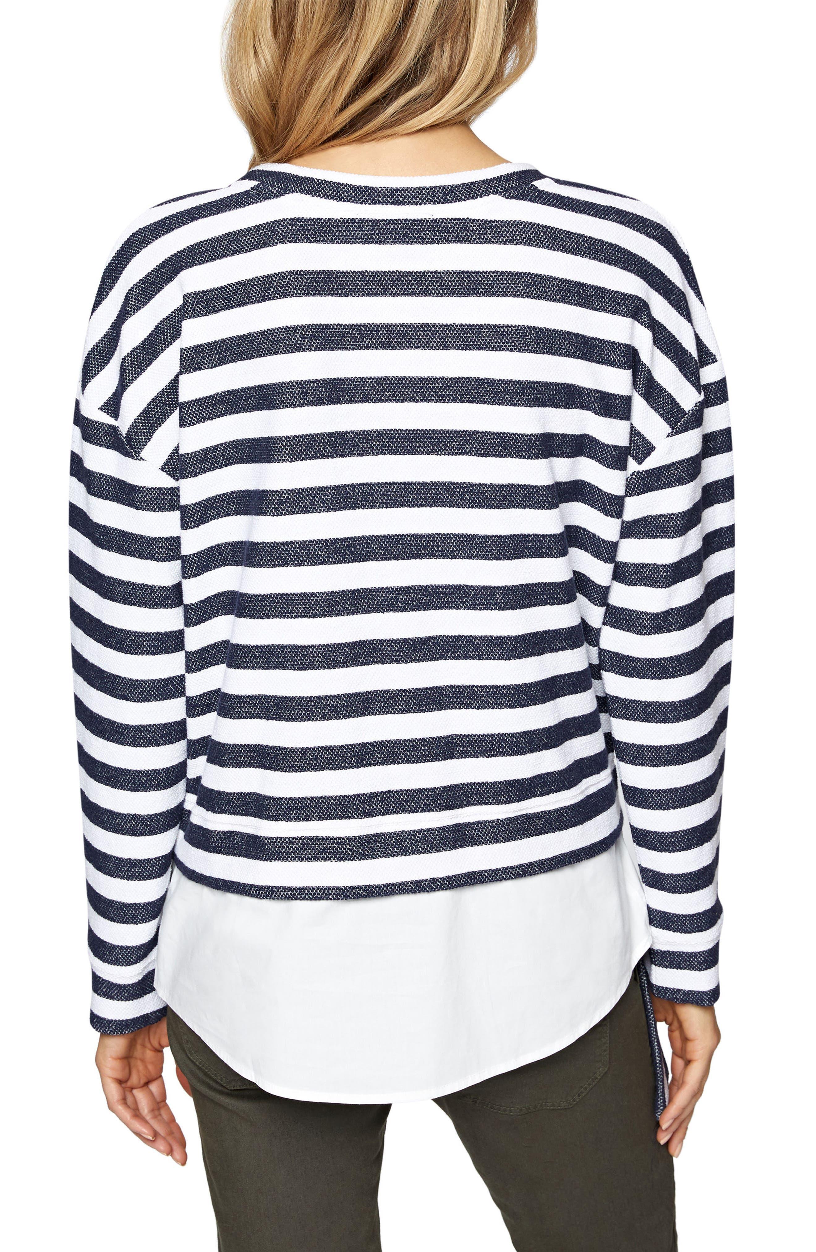 Ally Layered Look Sweatshirt,                             Alternate thumbnail 4, color,