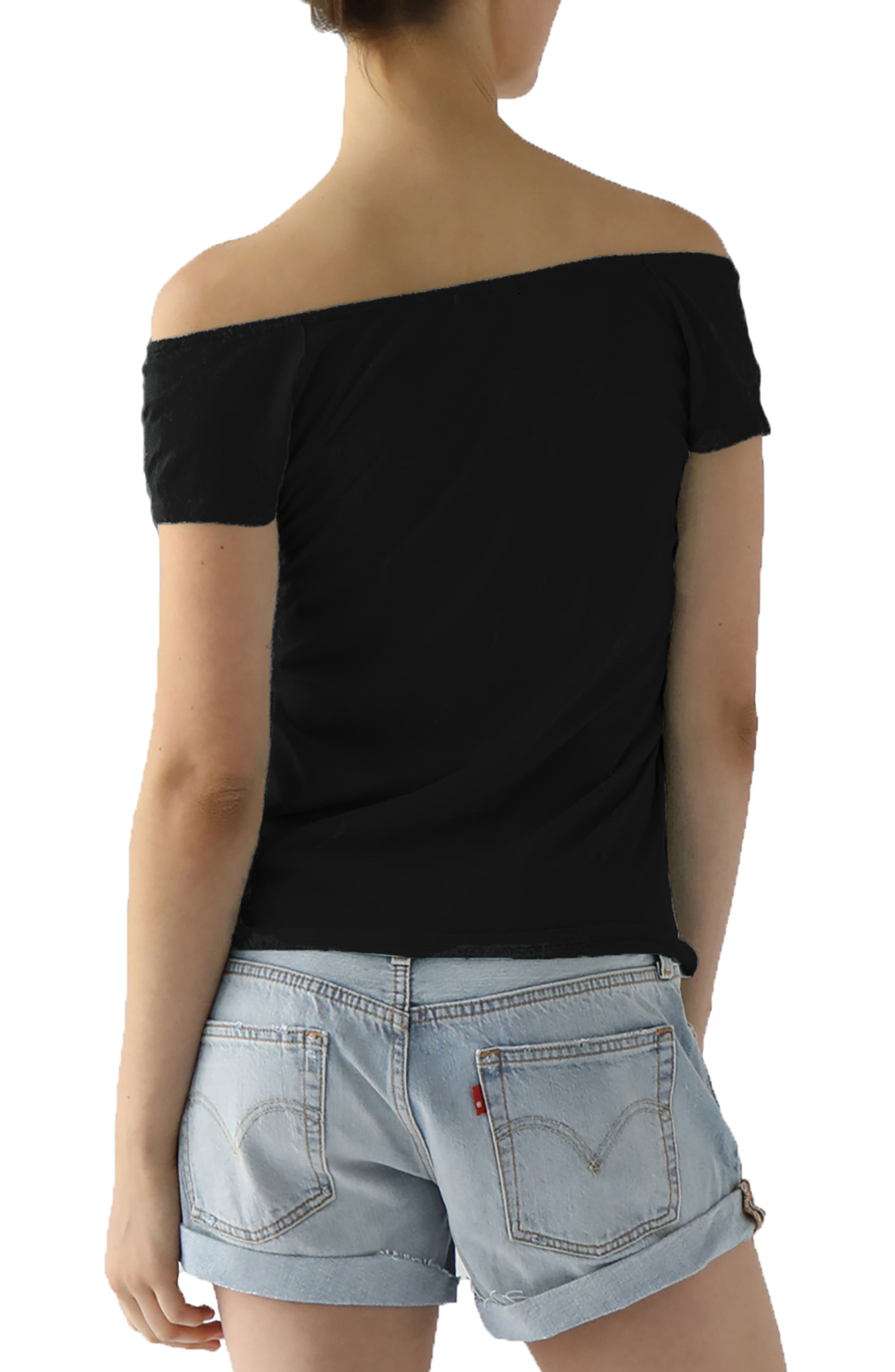 Imelda Tissue Jersey Off the Shoulder Tee,                             Alternate thumbnail 6, color,