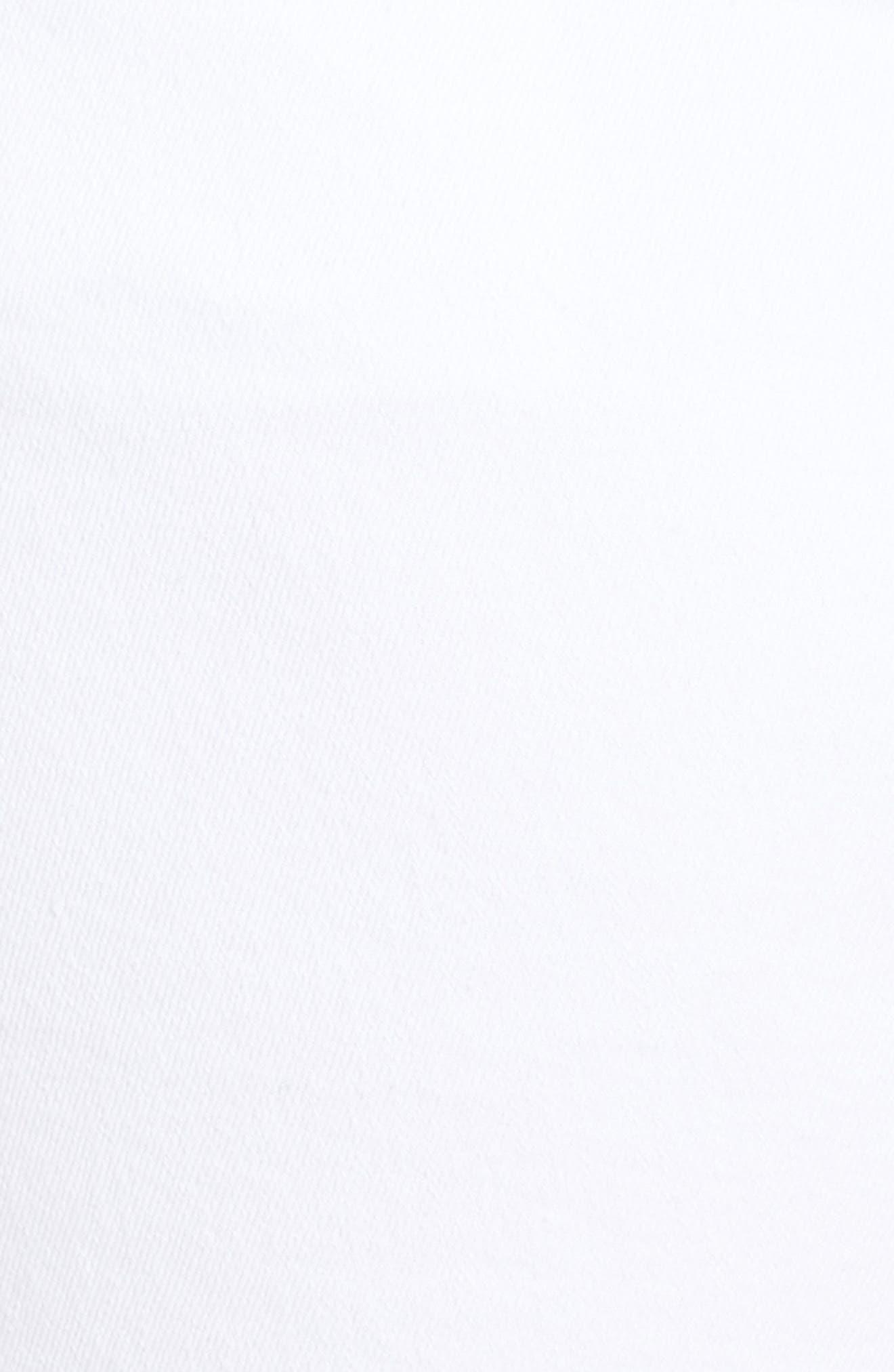 Gidget Raw Hem Shorts,                             Alternate thumbnail 7, color,                             OPTIC WHITE