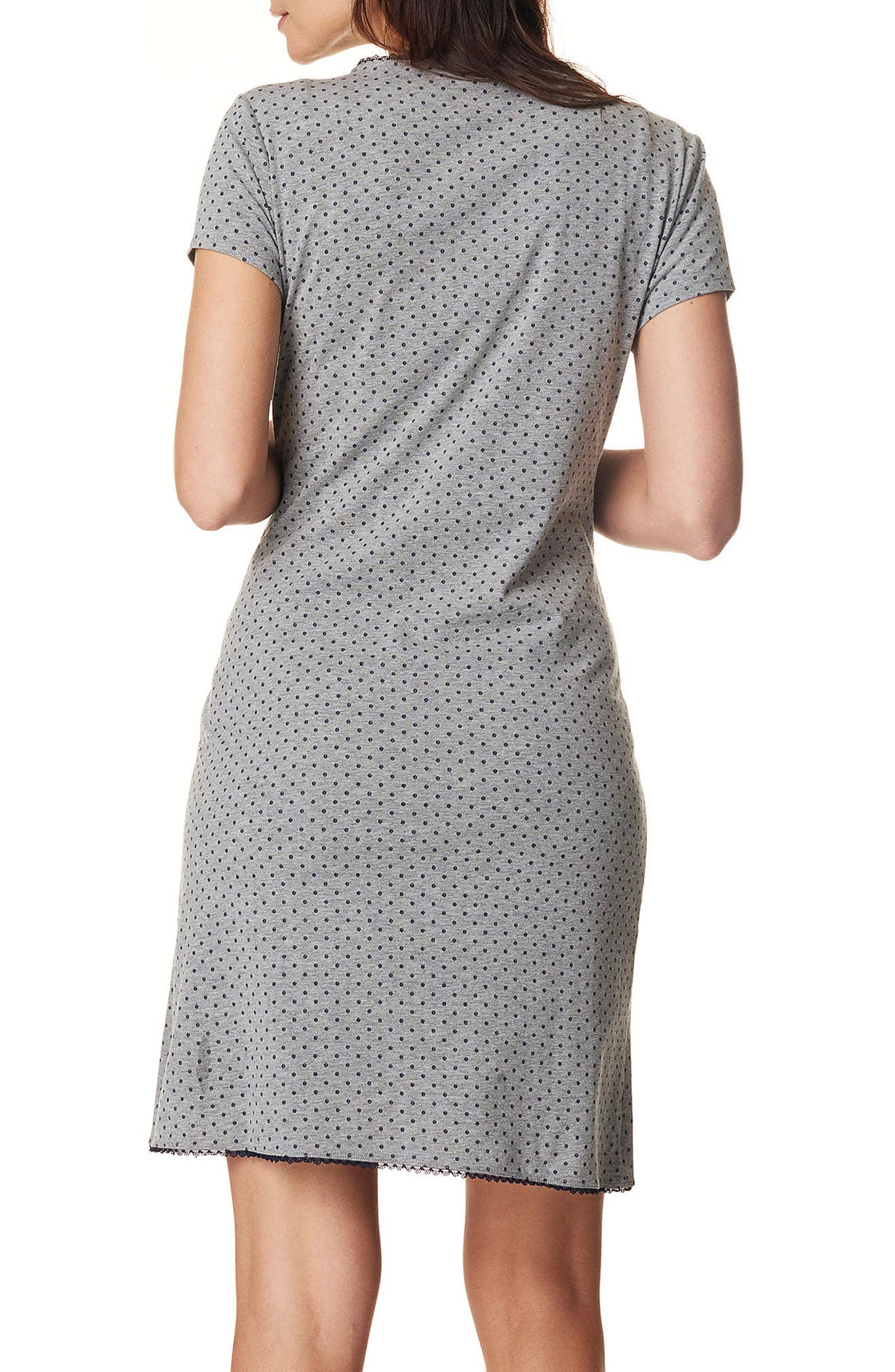 Marni Jersey Maternity/Nursing Dress,                             Alternate thumbnail 2, color,                             GREY